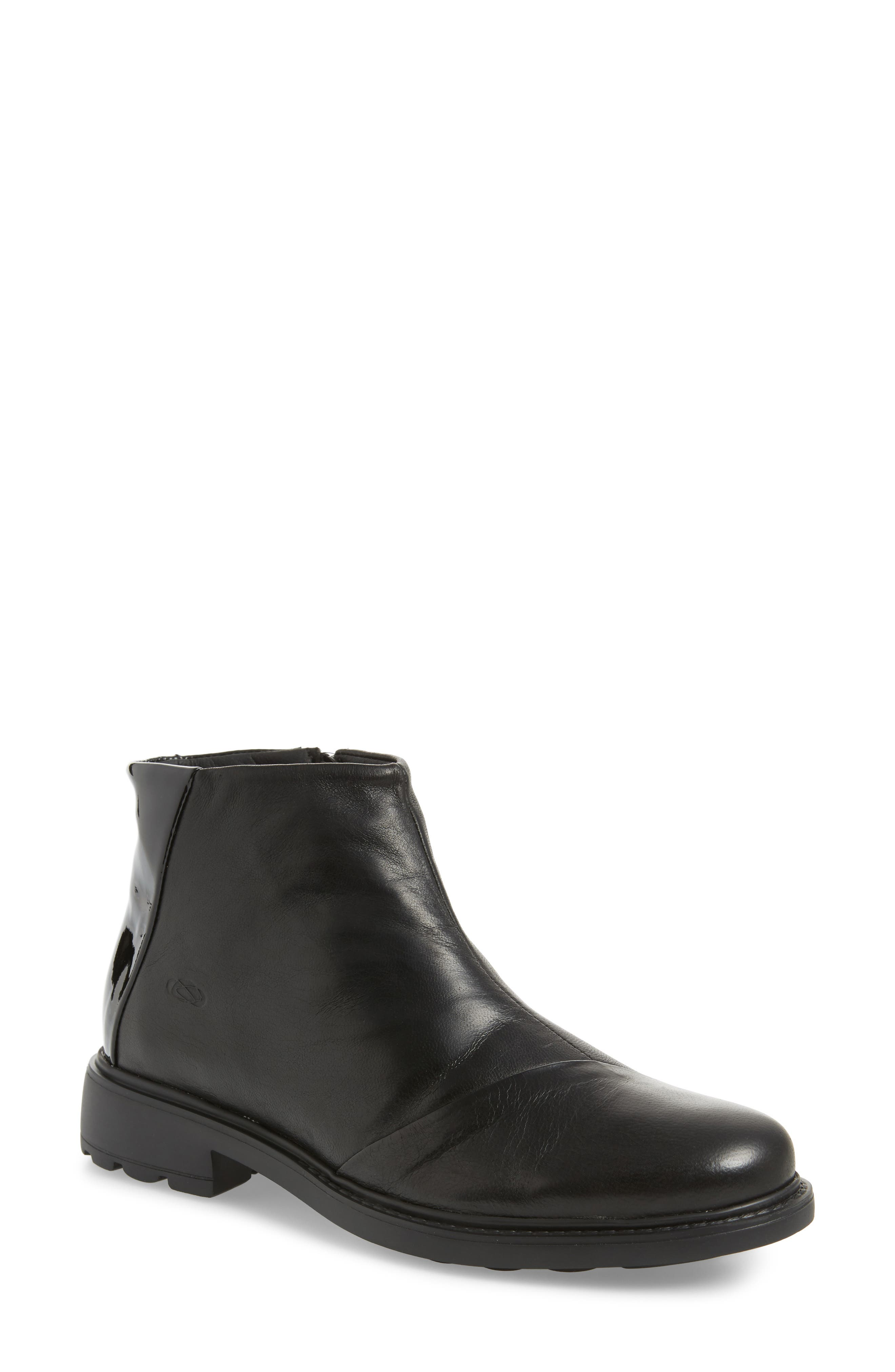 Penny Bootie,                         Main,                         color, Black Leather