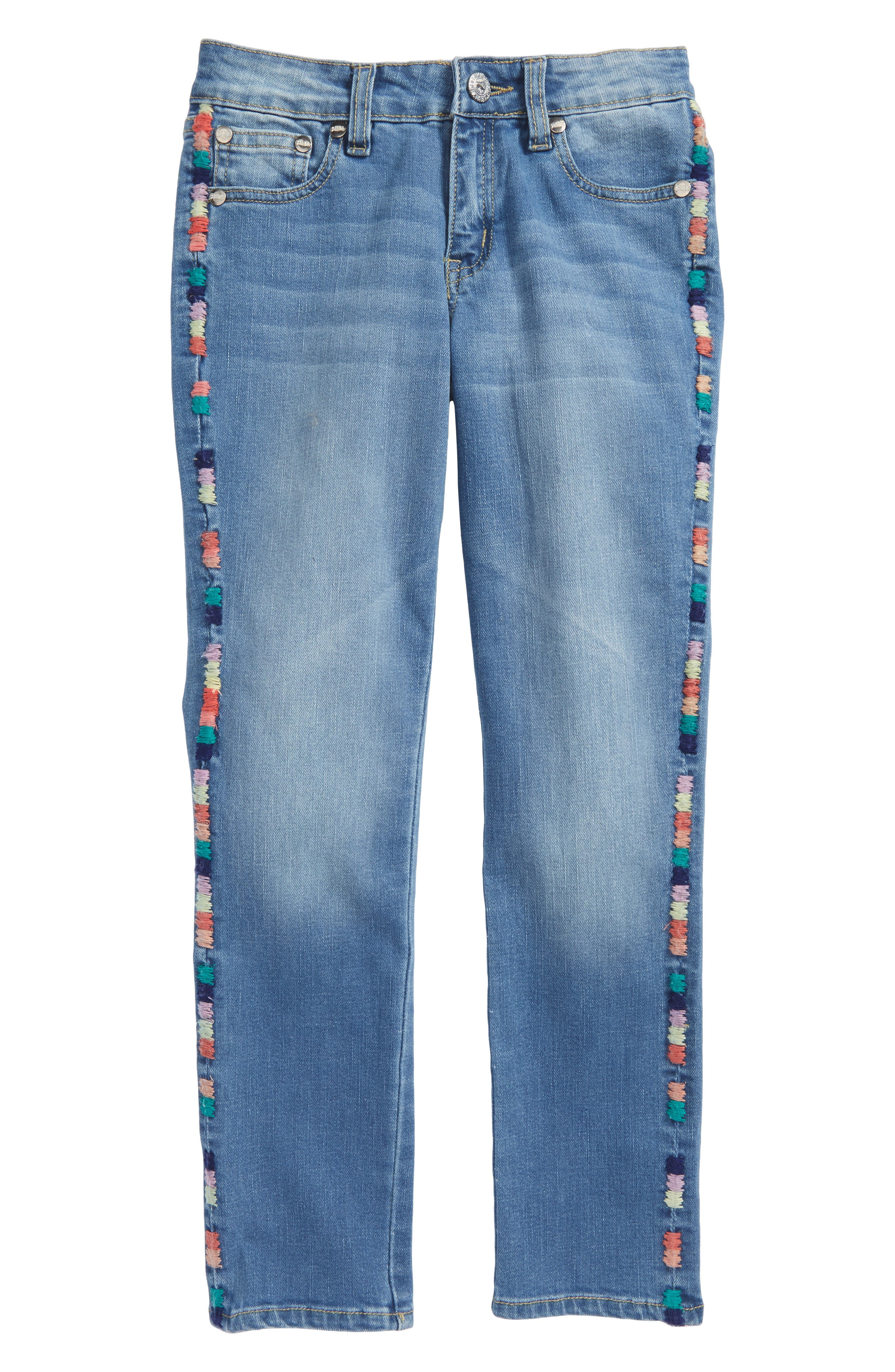 Taylor Embroidered Skinny Jeans,                         Main,                         color, Medium Authentic