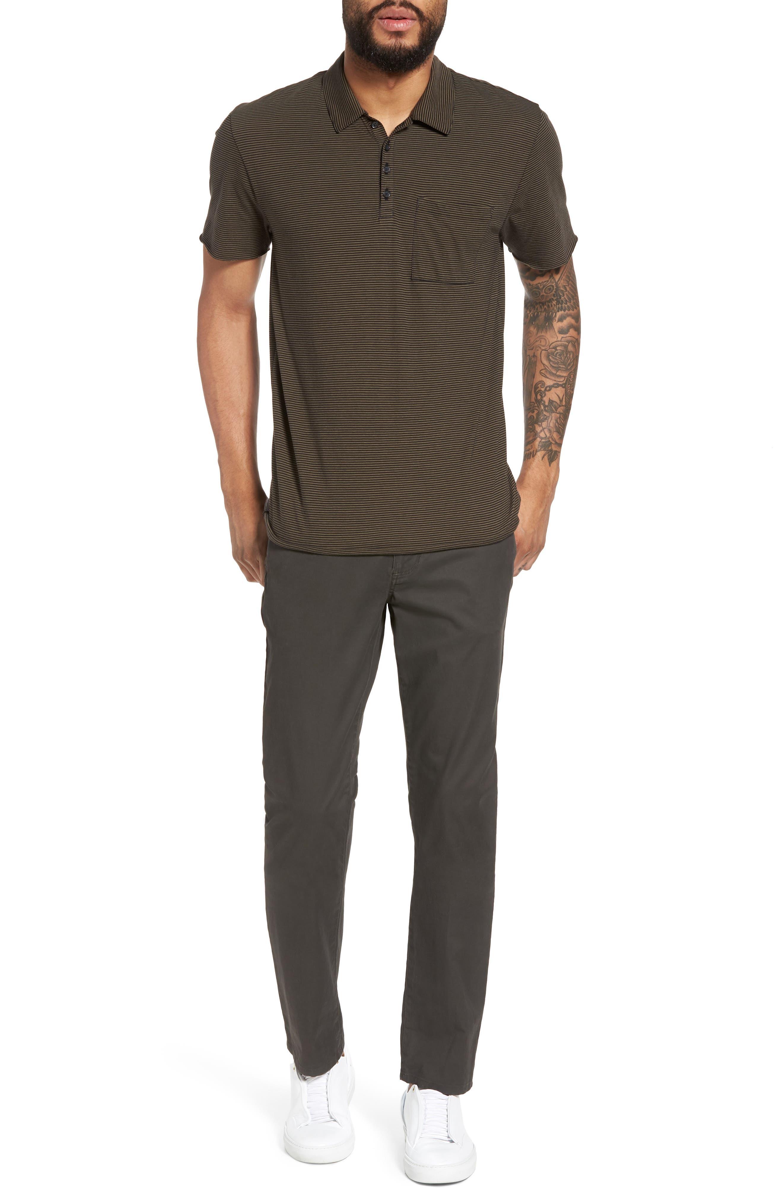Slim Fit Five-Pocket Pants,                             Alternate thumbnail 7, color,                             Charcoal