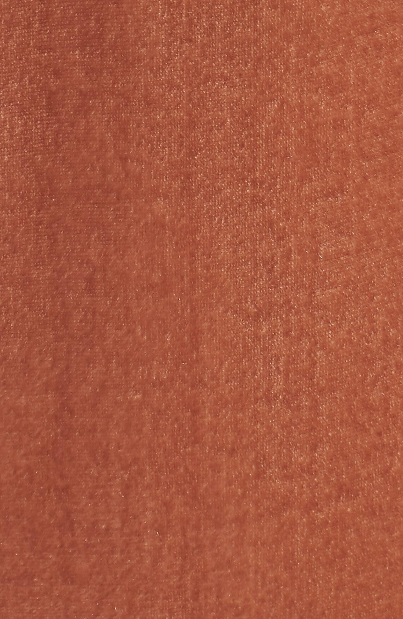 Bushwick Velvet Pants,                             Alternate thumbnail 5, color,                             Brown