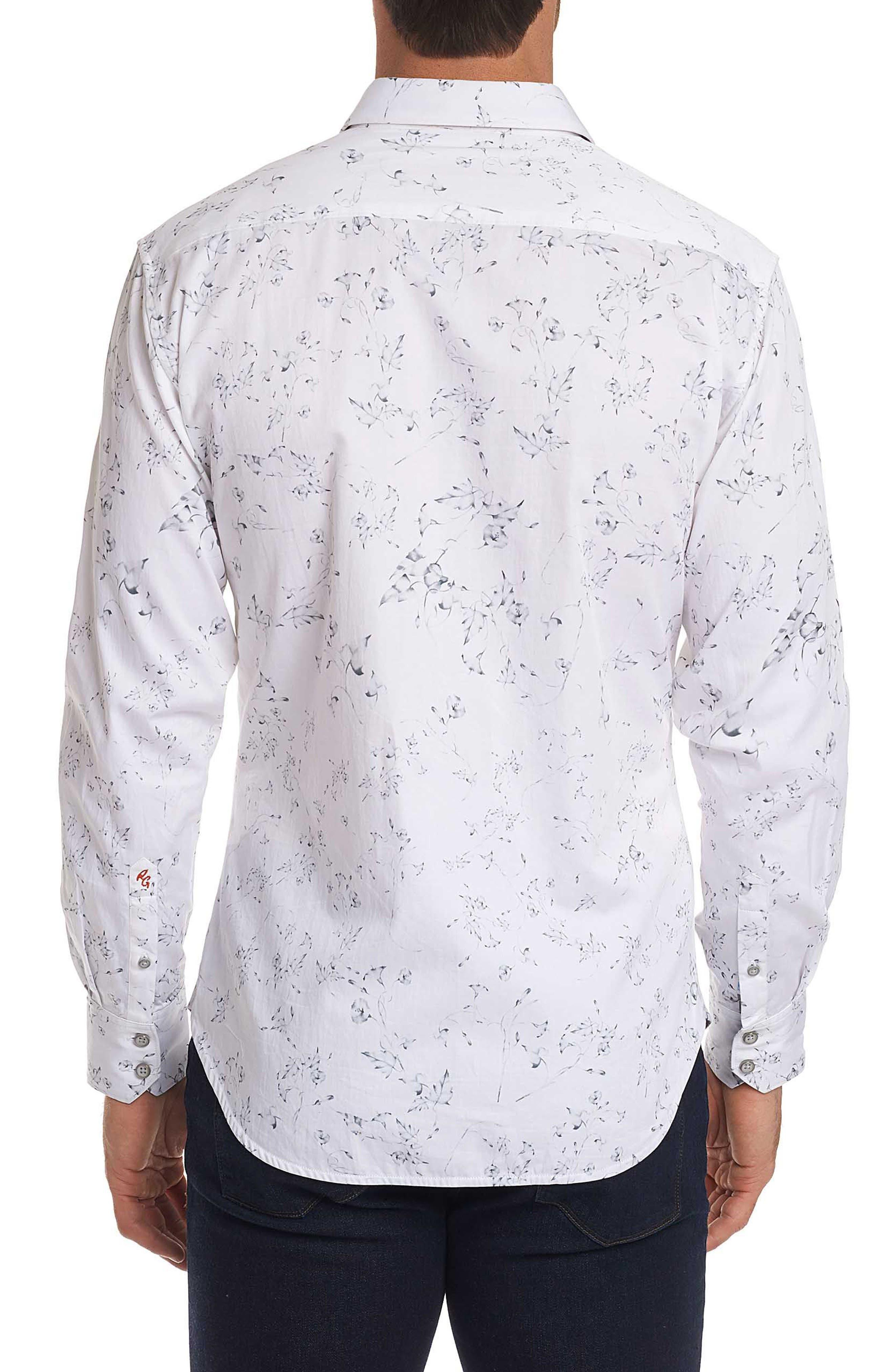 De La Cruz Classic Fit Sport Shirt,                             Alternate thumbnail 3, color,                             White