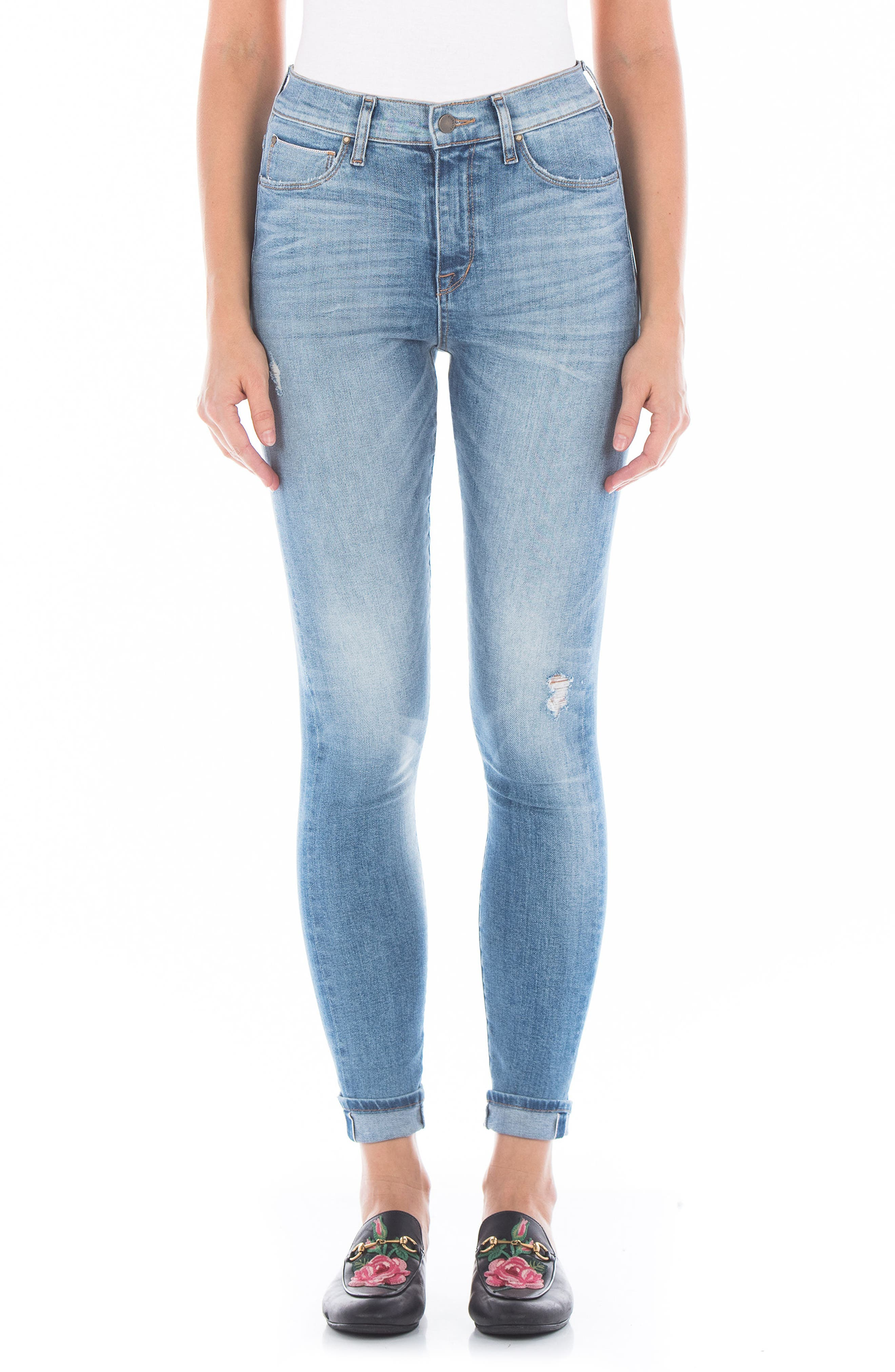 Gwen High Waist Skinny Jeans,                         Main,                         color, 76 Summer