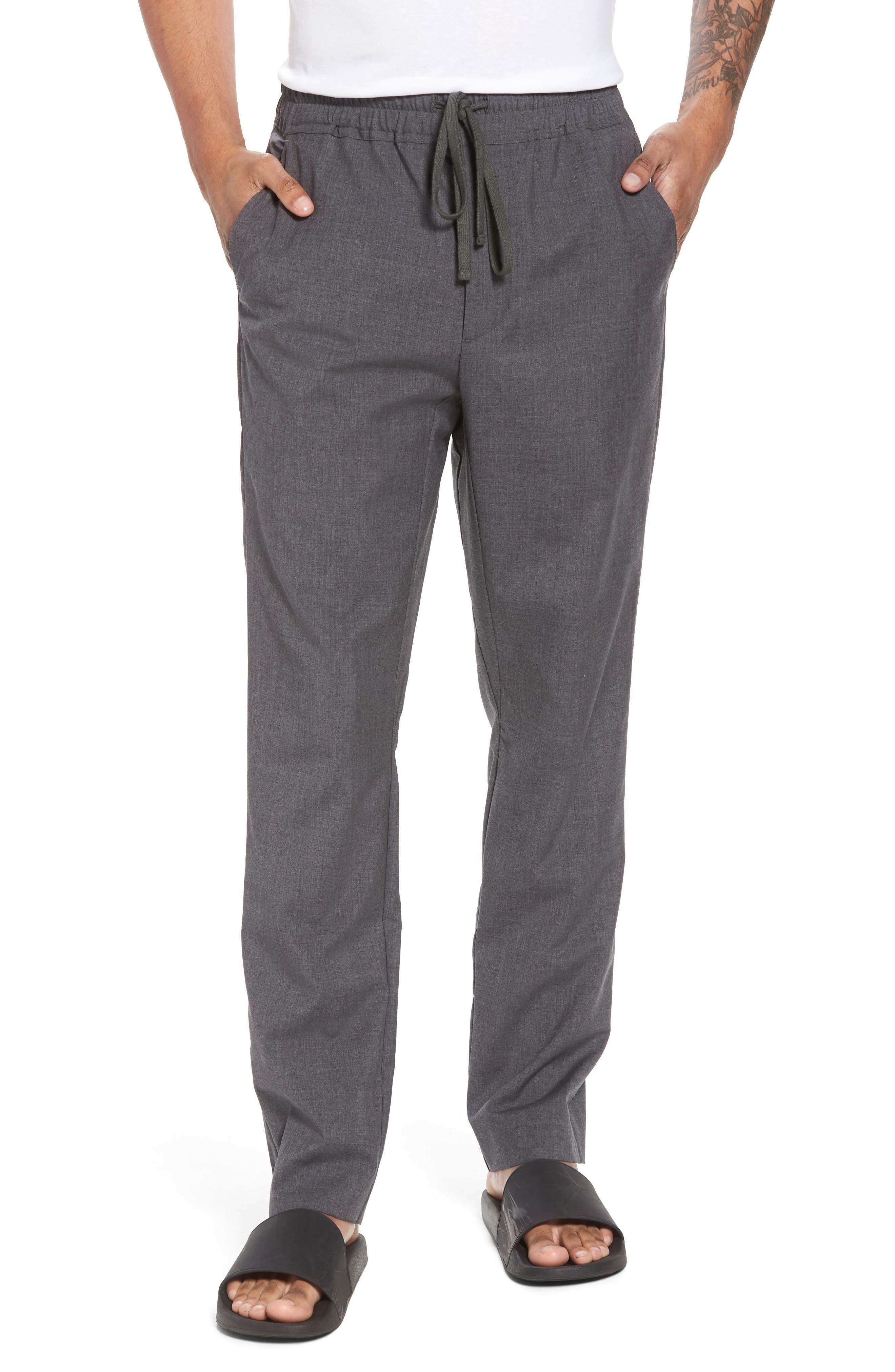 Slim Fit Wool Track Pants,                         Main,                         color, Light Heather Grey