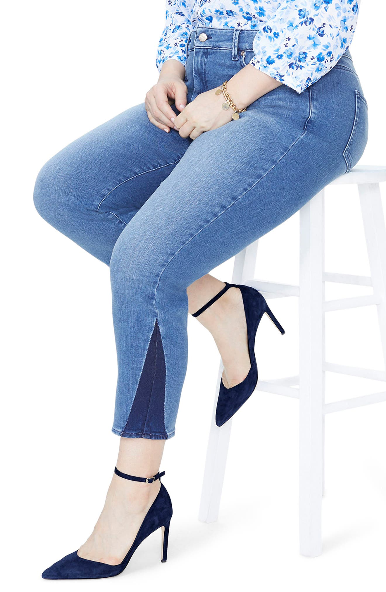Sheri Slim Shadow Ankle Jeans,                             Alternate thumbnail 2, color,                             Wishful