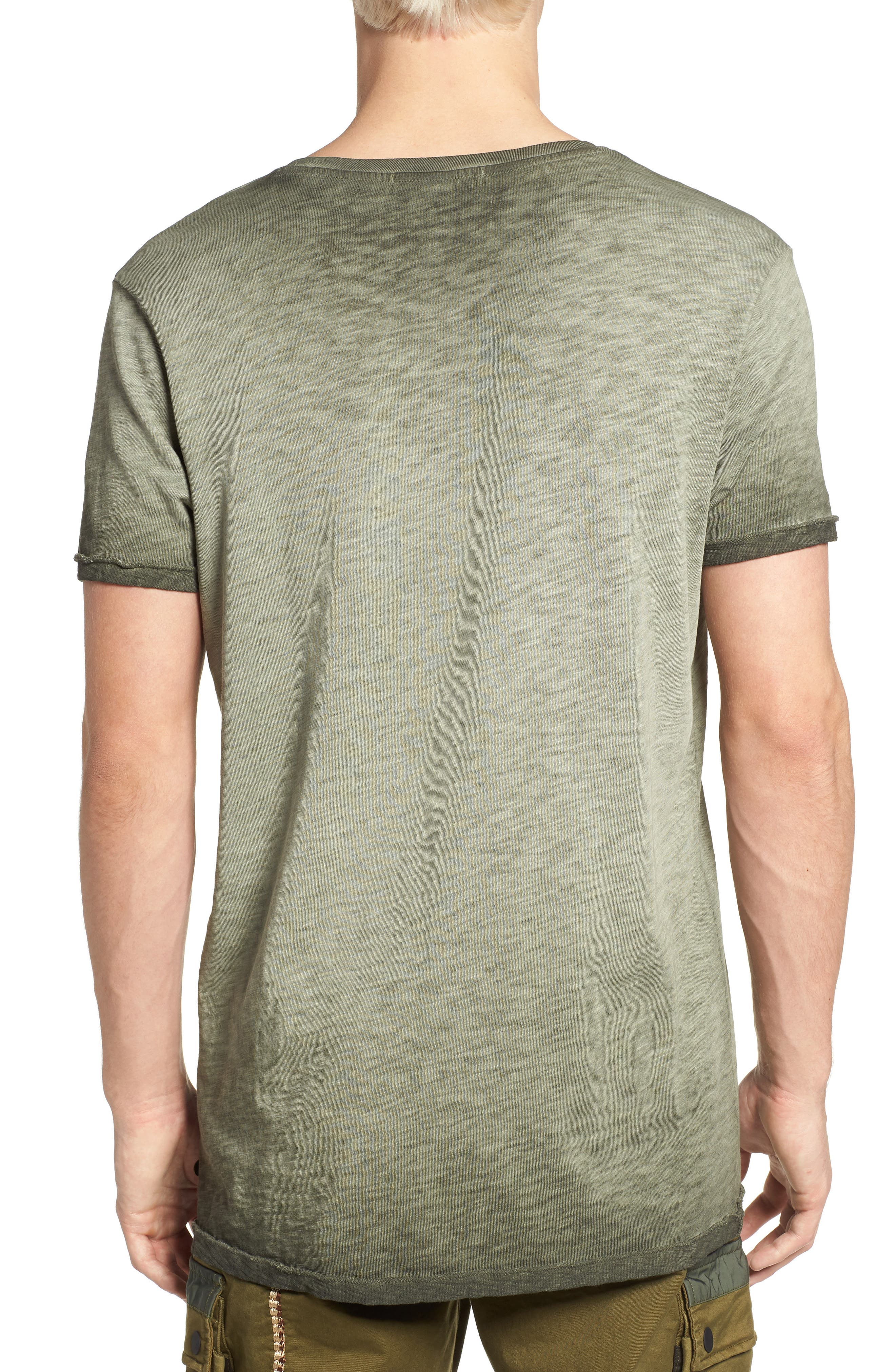 Oil Washed T-Shirt,                             Alternate thumbnail 2, color,                             Army