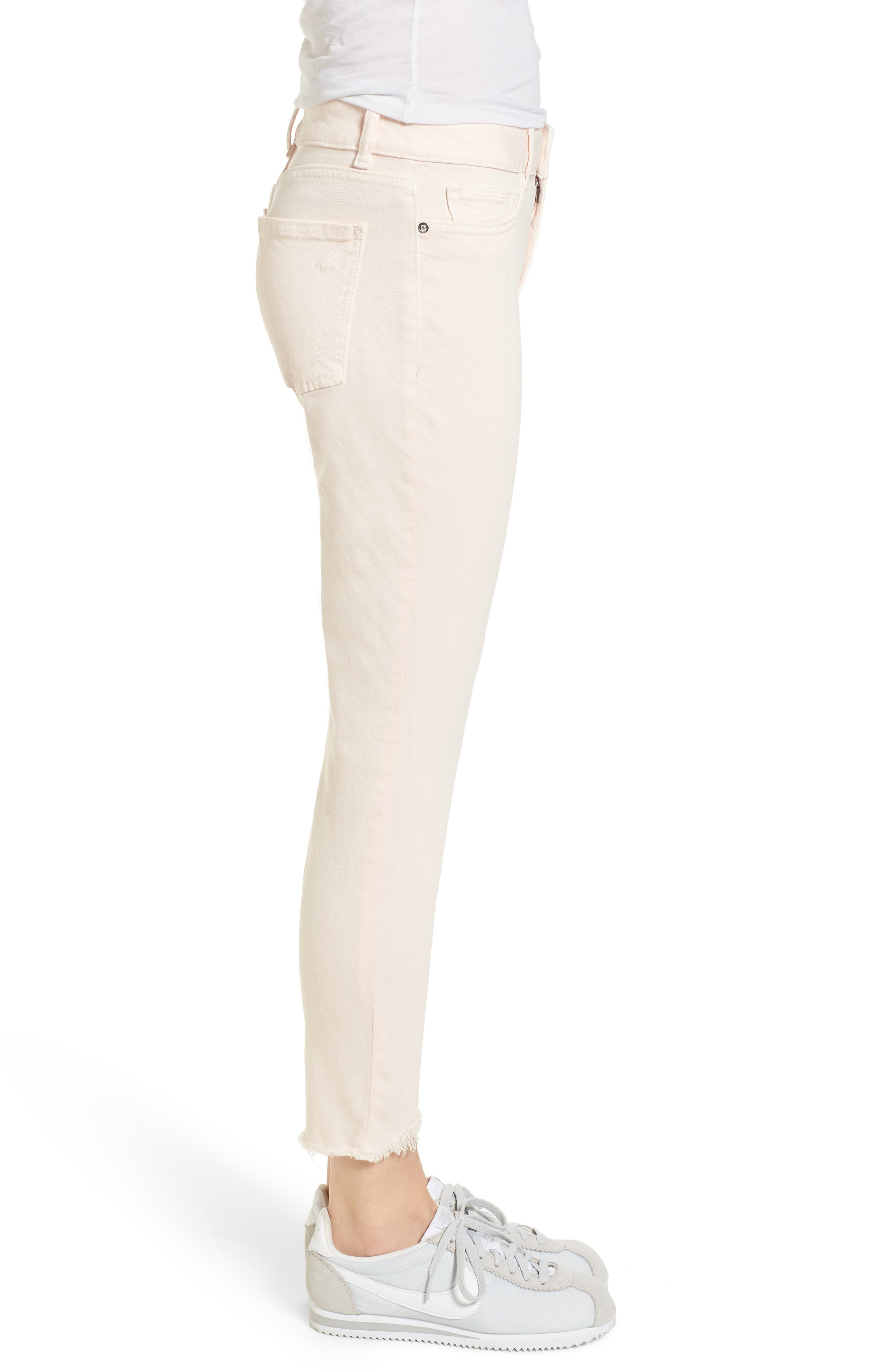 Florence Instasculpt Crop Skinny Jeans,                             Alternate thumbnail 3, color,                             Blush Pink