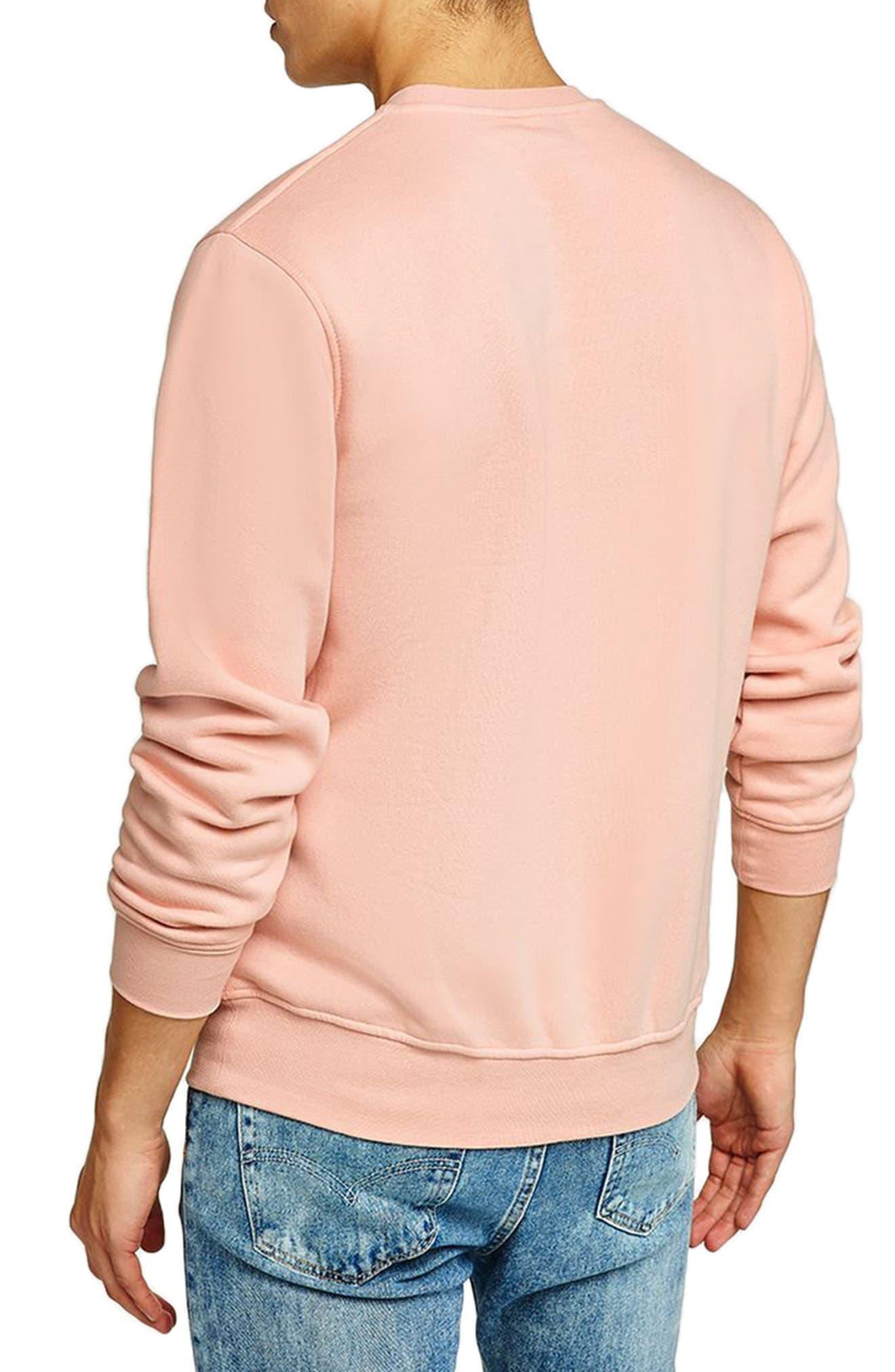 NICCE Slim Fit Embossed Sweatshirt,                             Alternate thumbnail 2, color,                             Pink