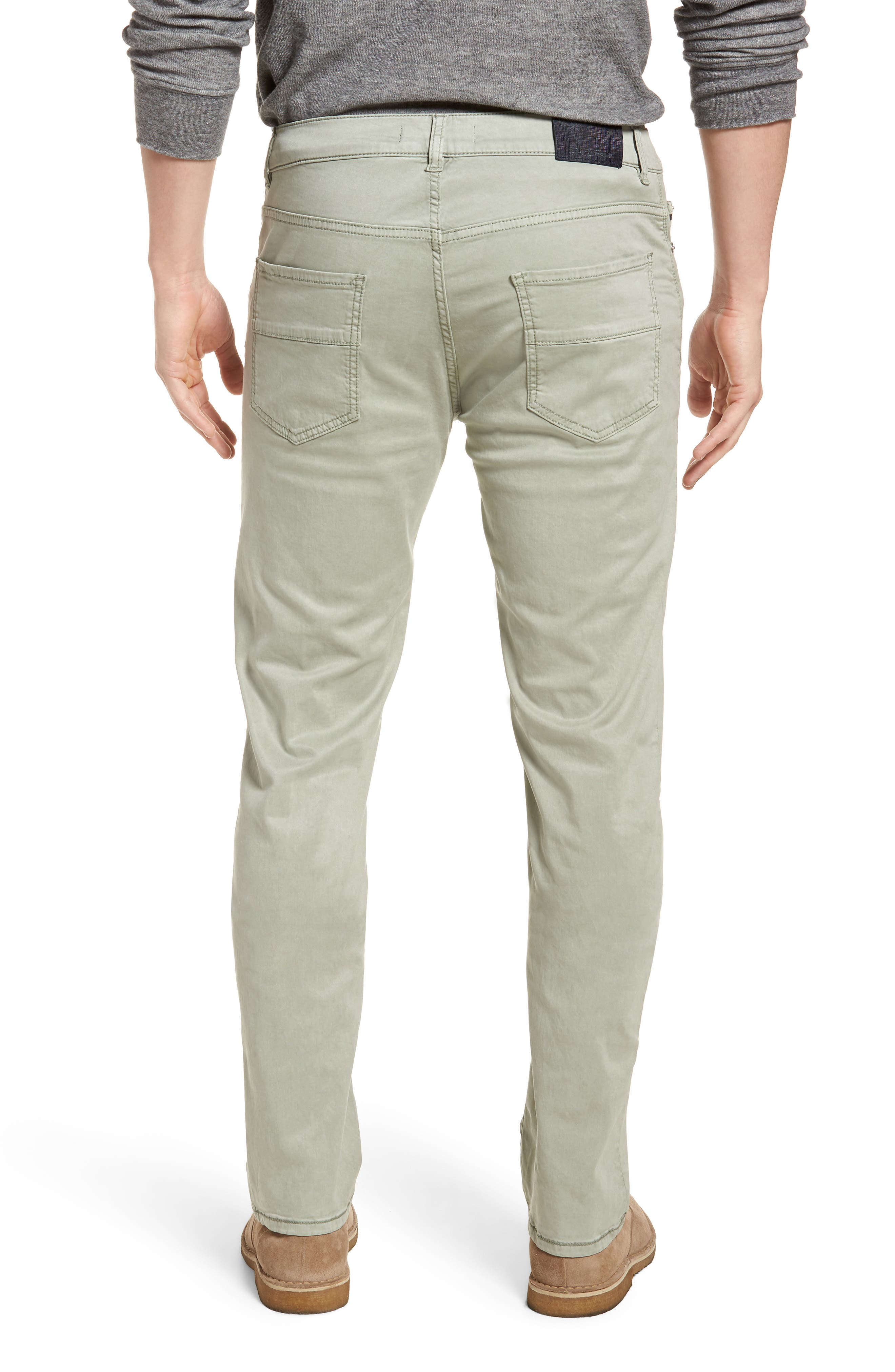 Slim Fit Washed Five-Pocket Pants,                             Alternate thumbnail 2, color,                             Khaki