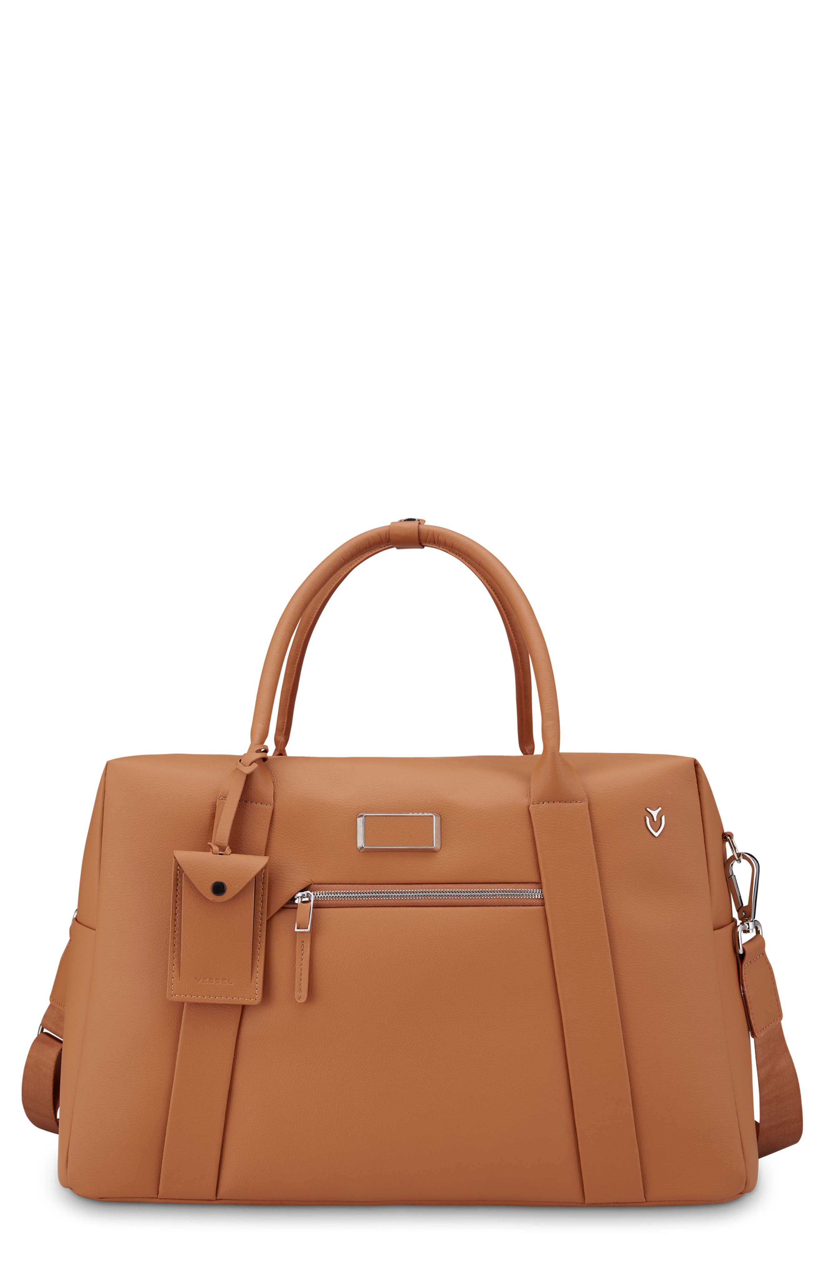 Signature 2.0 Faux Leather Duffel Bag,                             Main thumbnail 1, color,                             Pebbled Tan