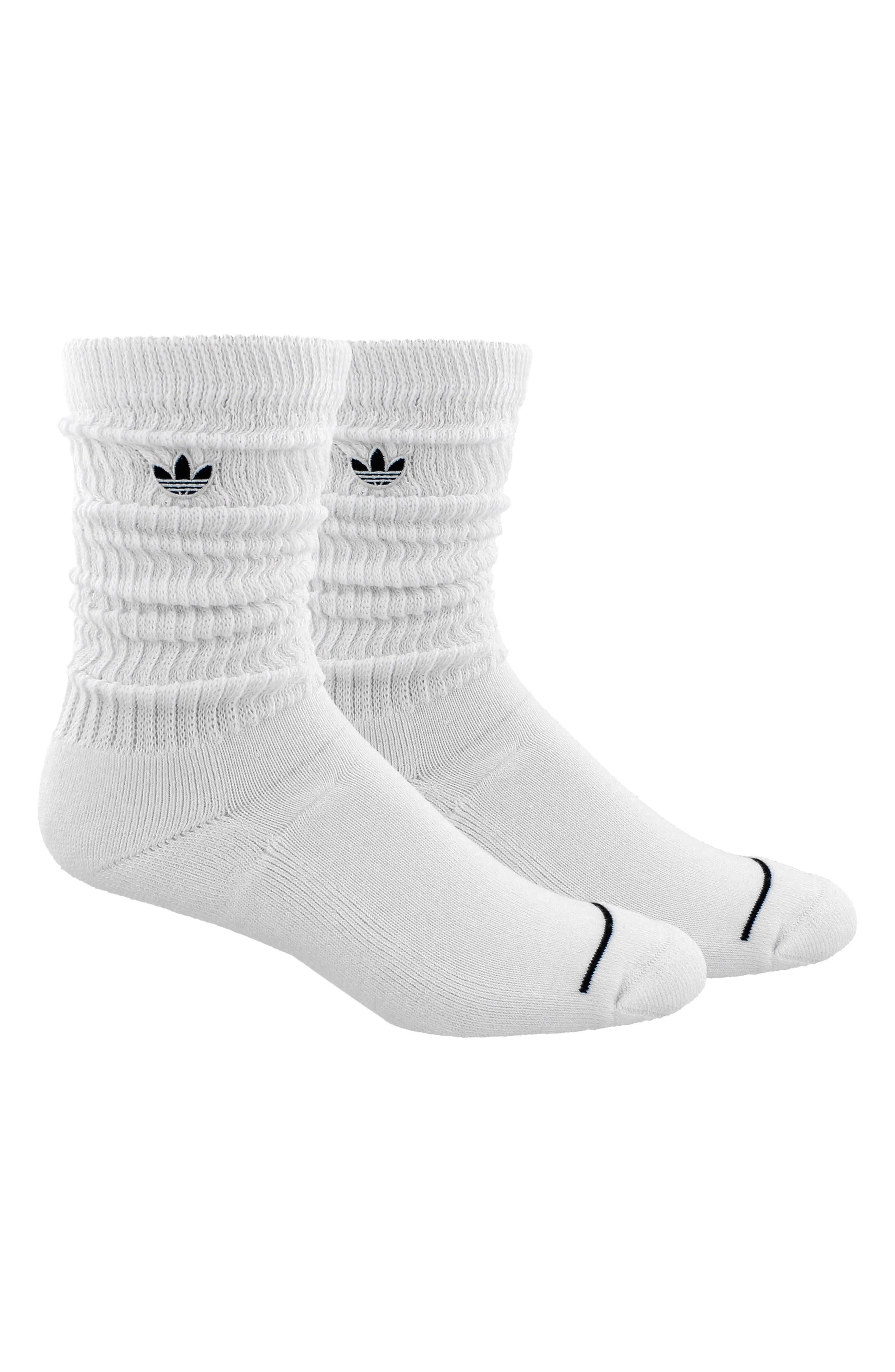 OG Slouch Crew Socks,                             Alternate thumbnail 3, color,                             White