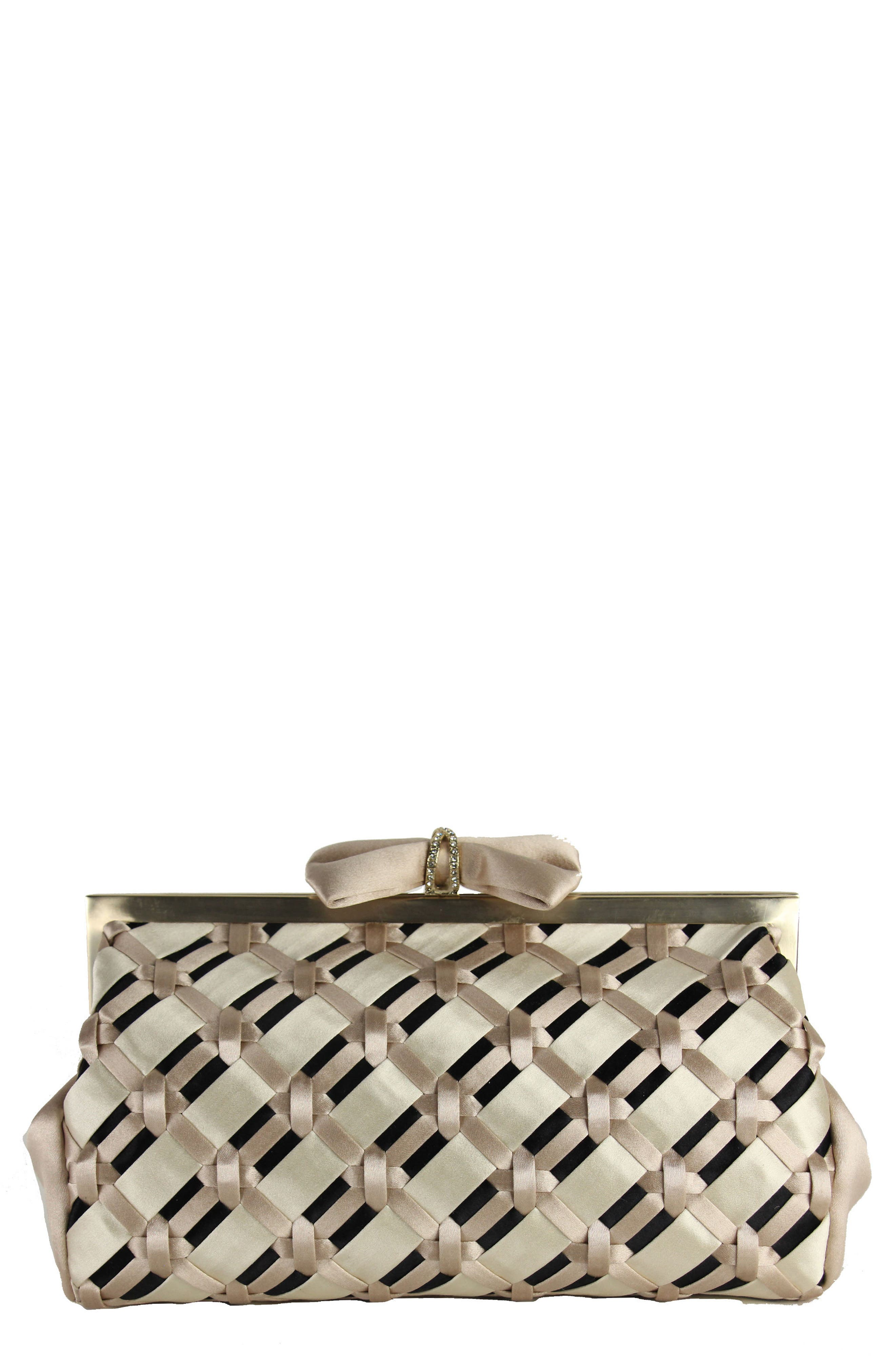 Badgley Mischka Grasp Satin Clutch