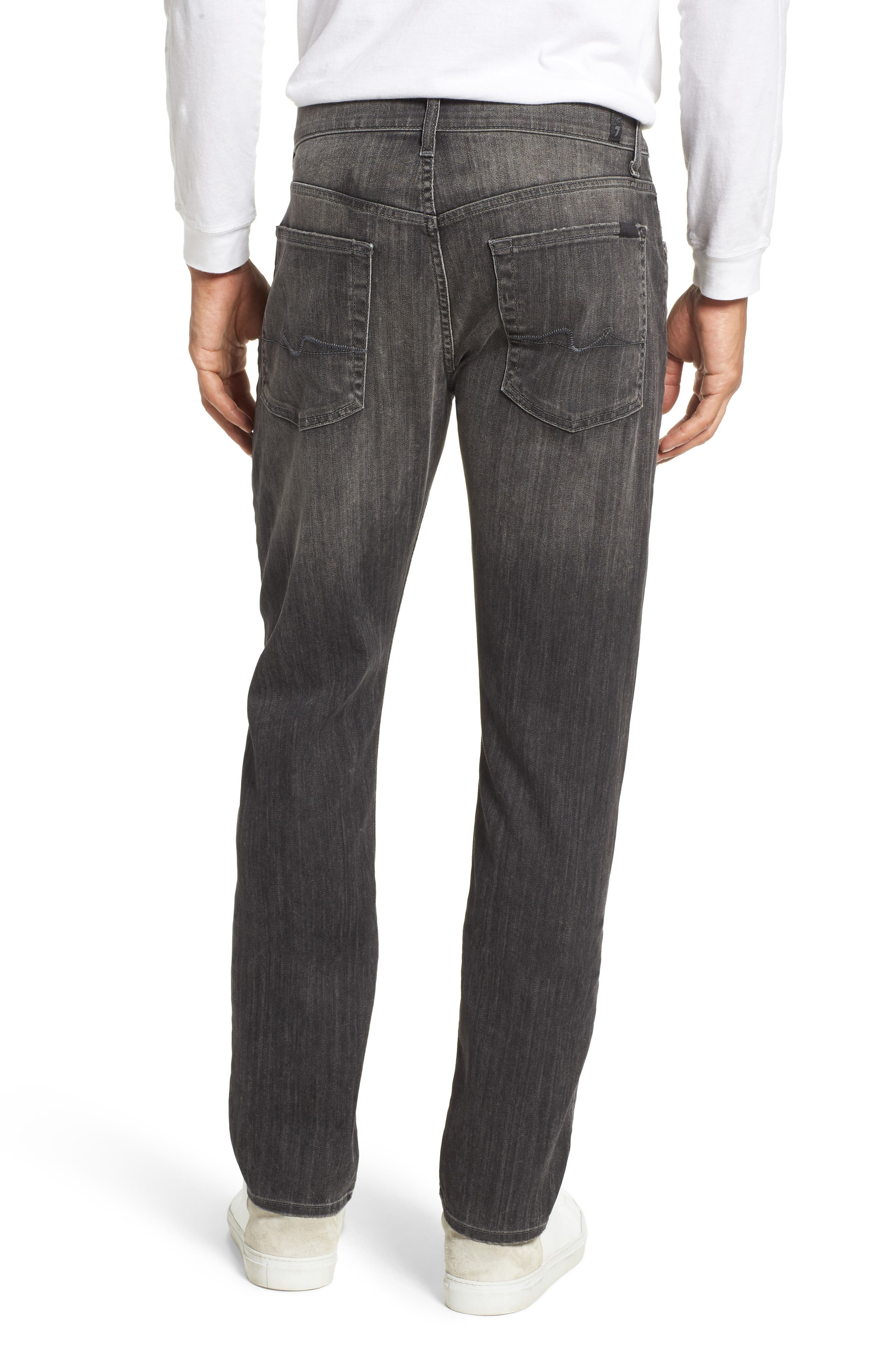 Alternate Image 2  - 7 For All Mankind® The Straight Slim Straight Leg Jeans (Halide Grey)