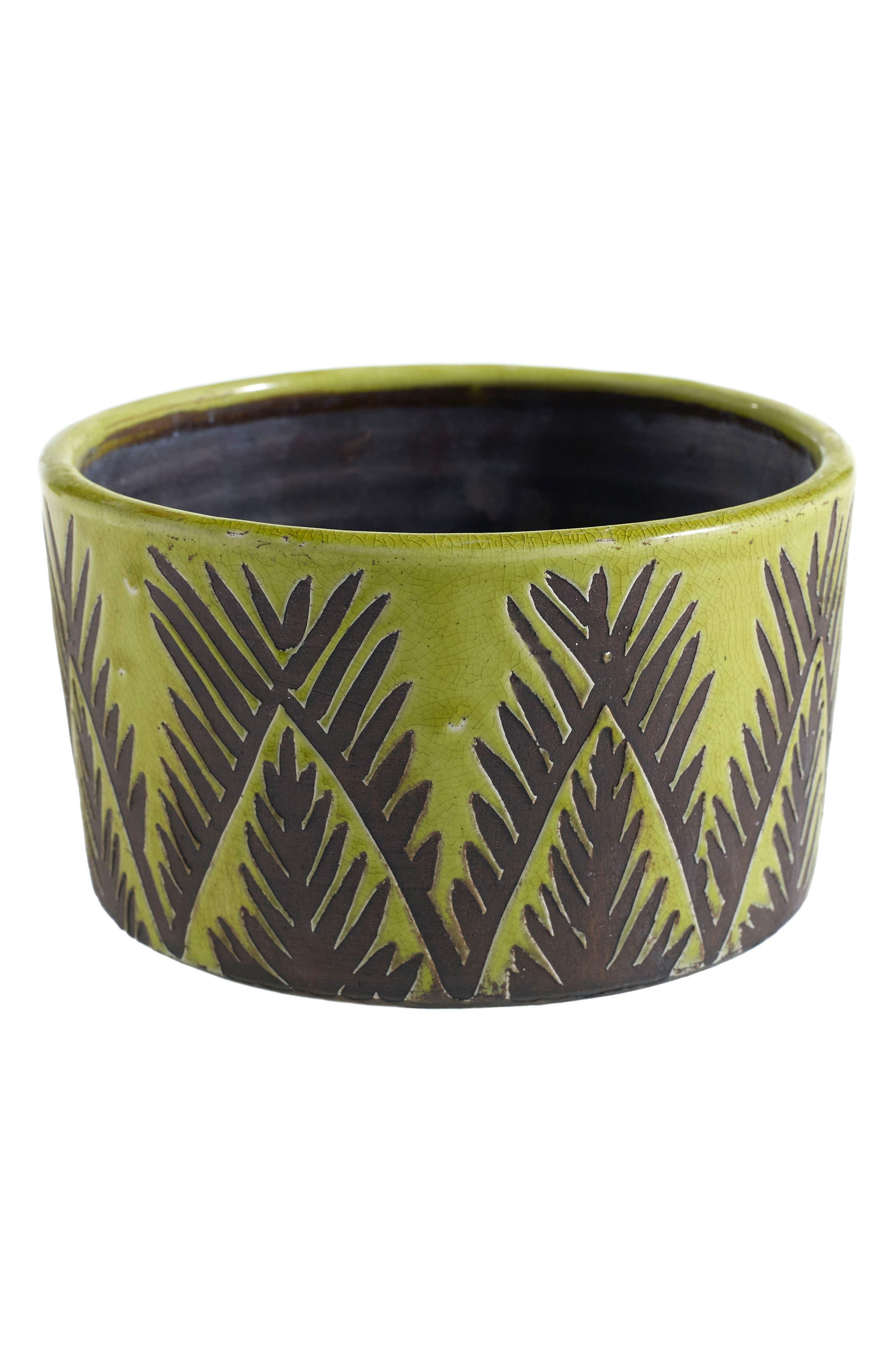 Manga Ceramic Bowl,                             Main thumbnail 1, color,                             Green