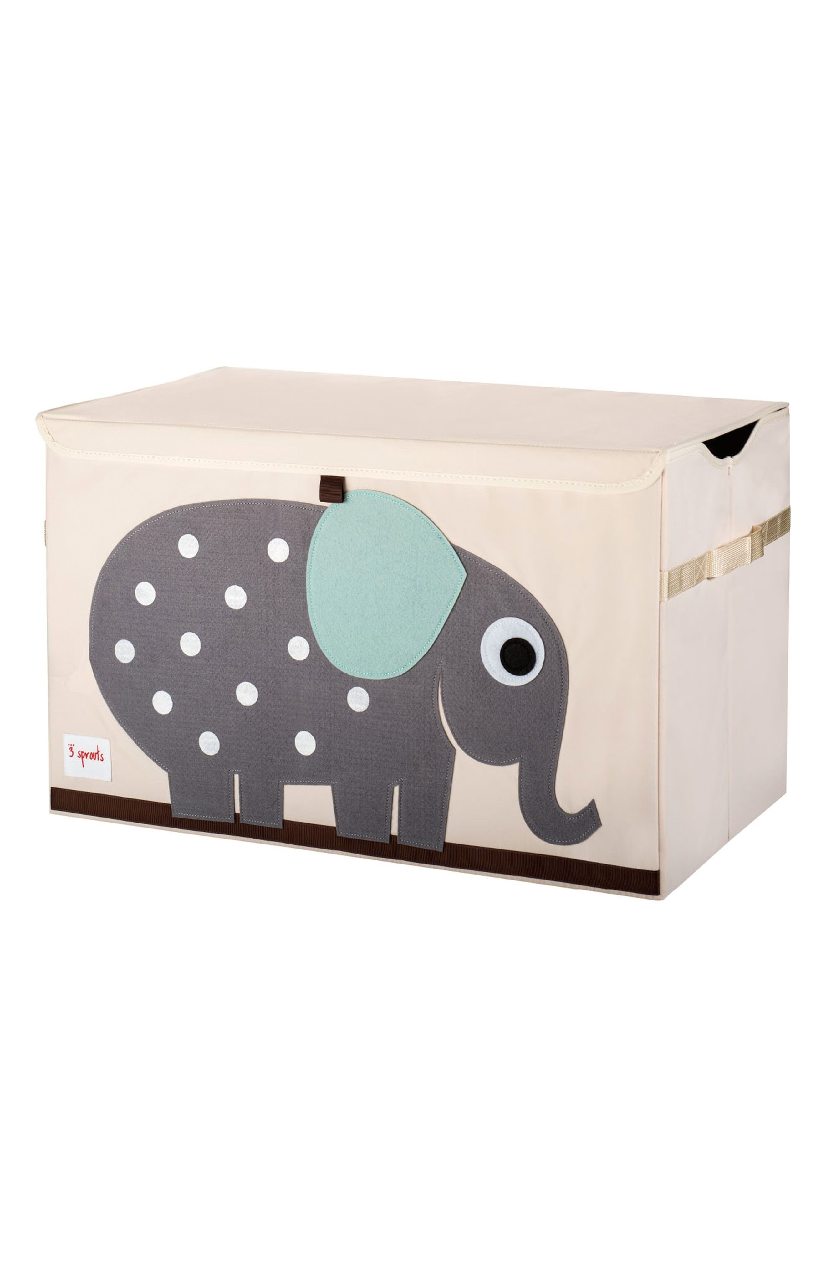 Elephant Toy Chest,                         Main,                         color, Gray
