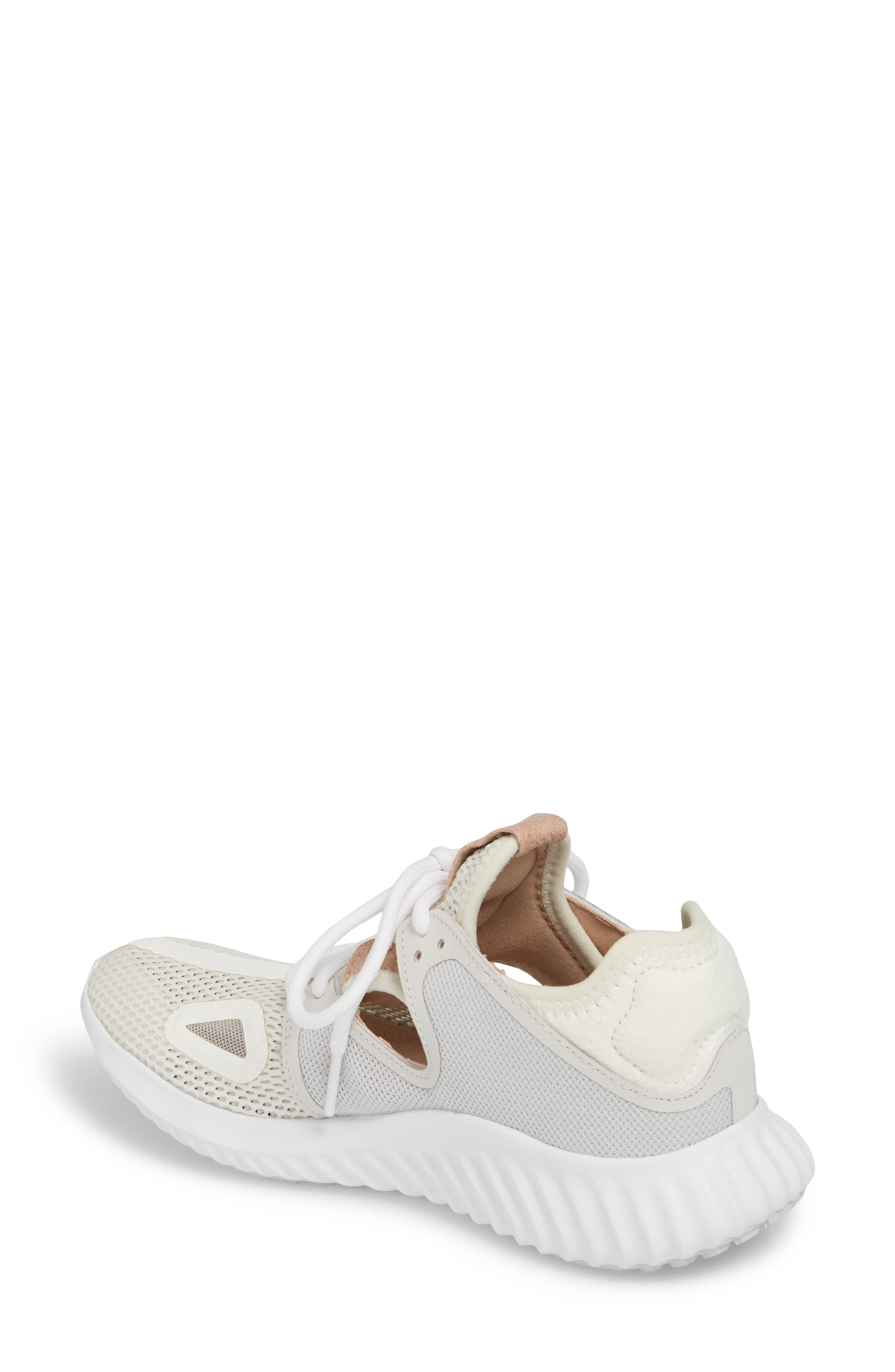 Run Lux Clima Running Shoe,                             Alternate thumbnail 2, color,                             Off White / Grey