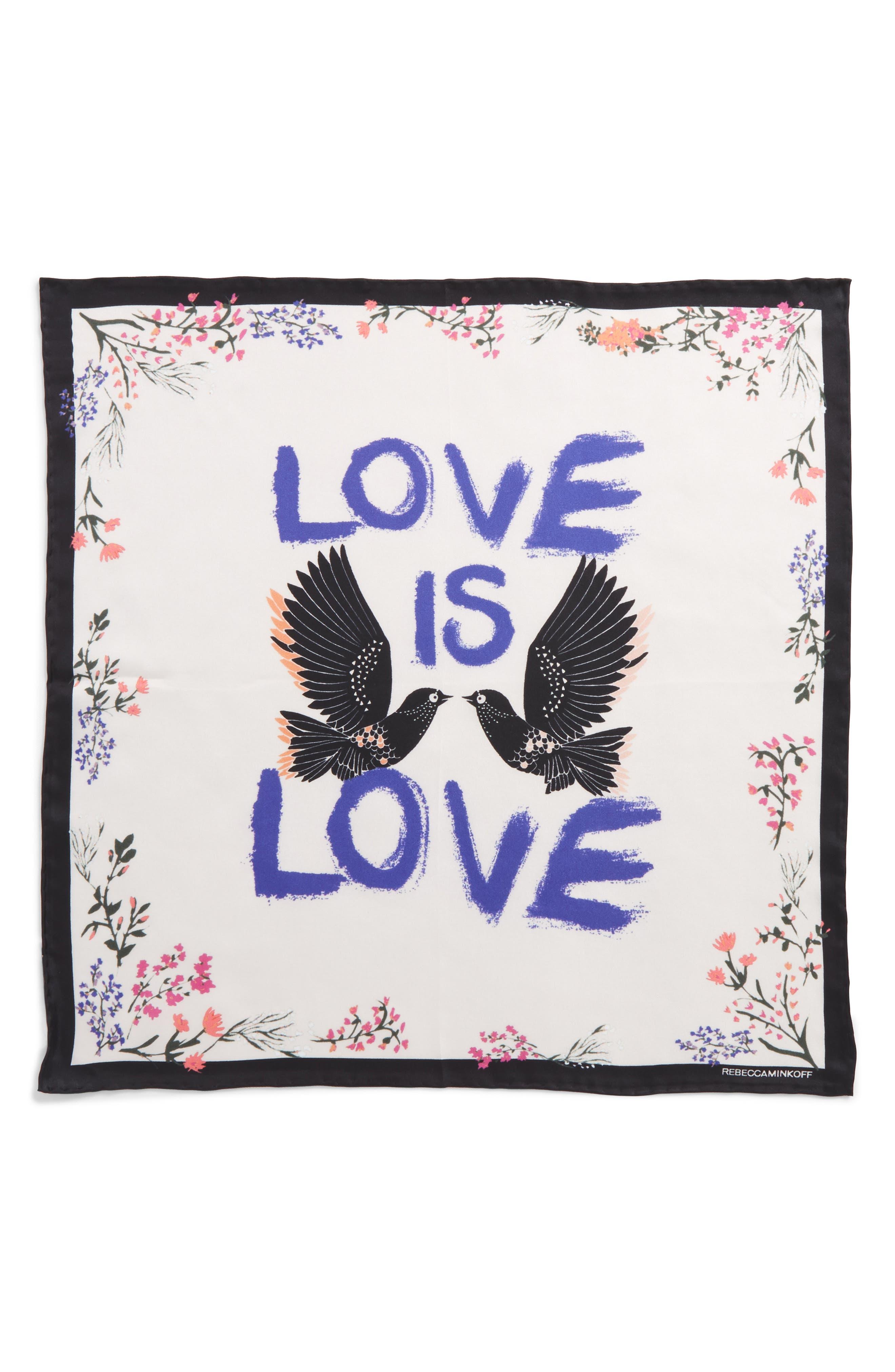 Love Doves Silk Bandana,                             Alternate thumbnail 6, color,                             Whisper Pink