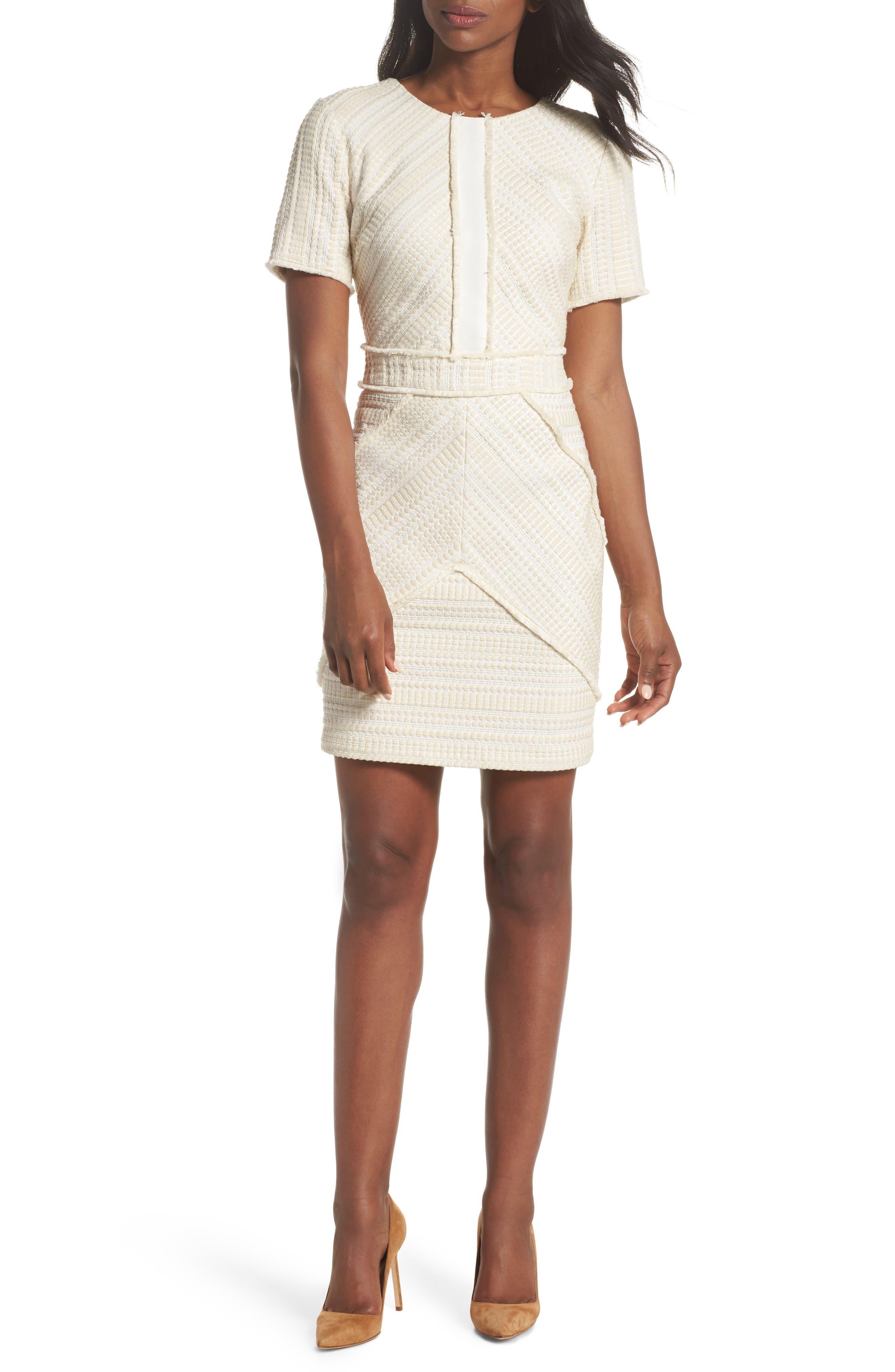 Tessa Sheath Dress,                             Main thumbnail 1, color,                             Ivory