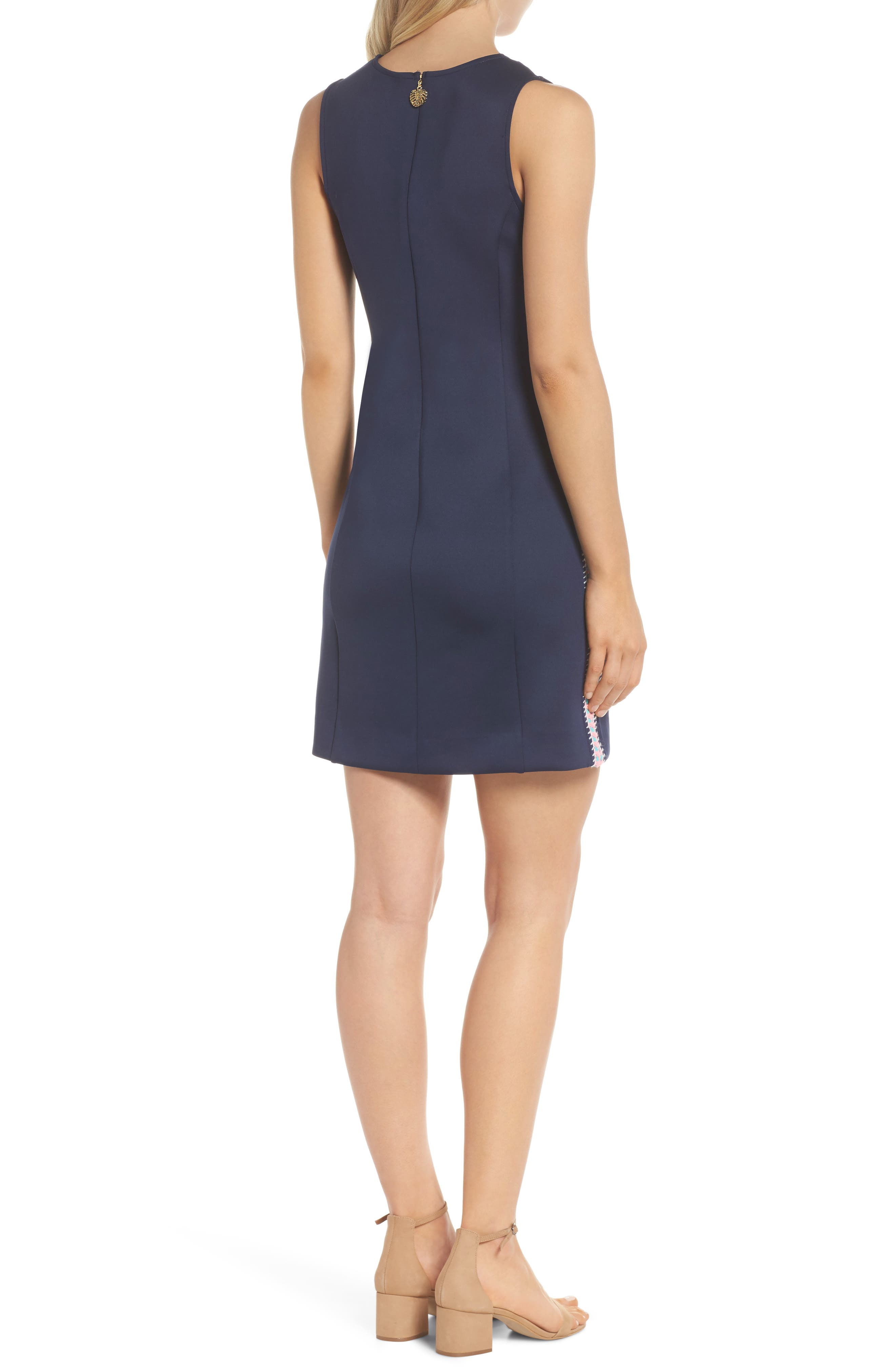 Mila Sheath Dress,                             Alternate thumbnail 2, color,                             True Navy