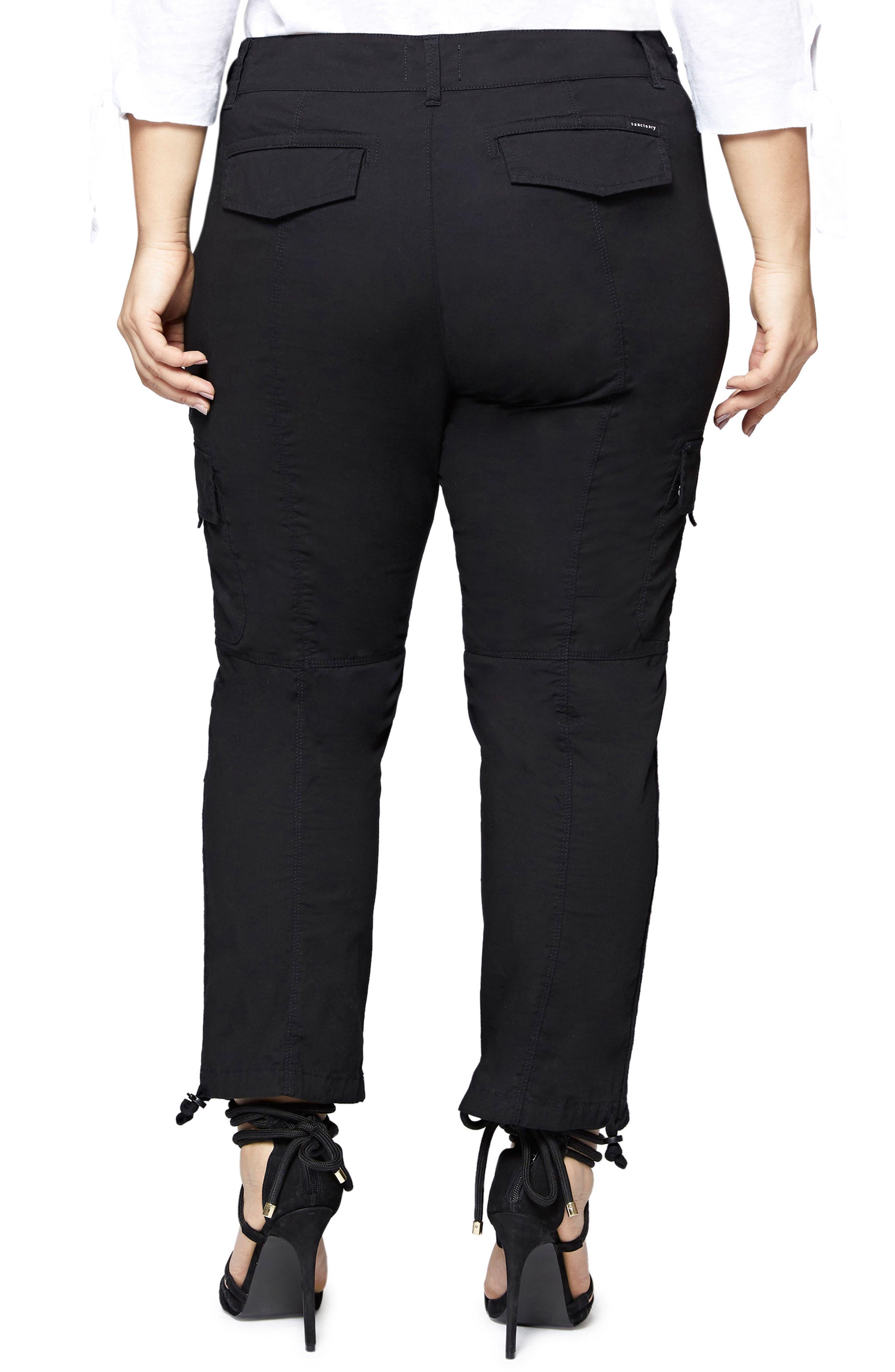 Terrain Crop Cargo Pants,                             Alternate thumbnail 2, color,                             Black