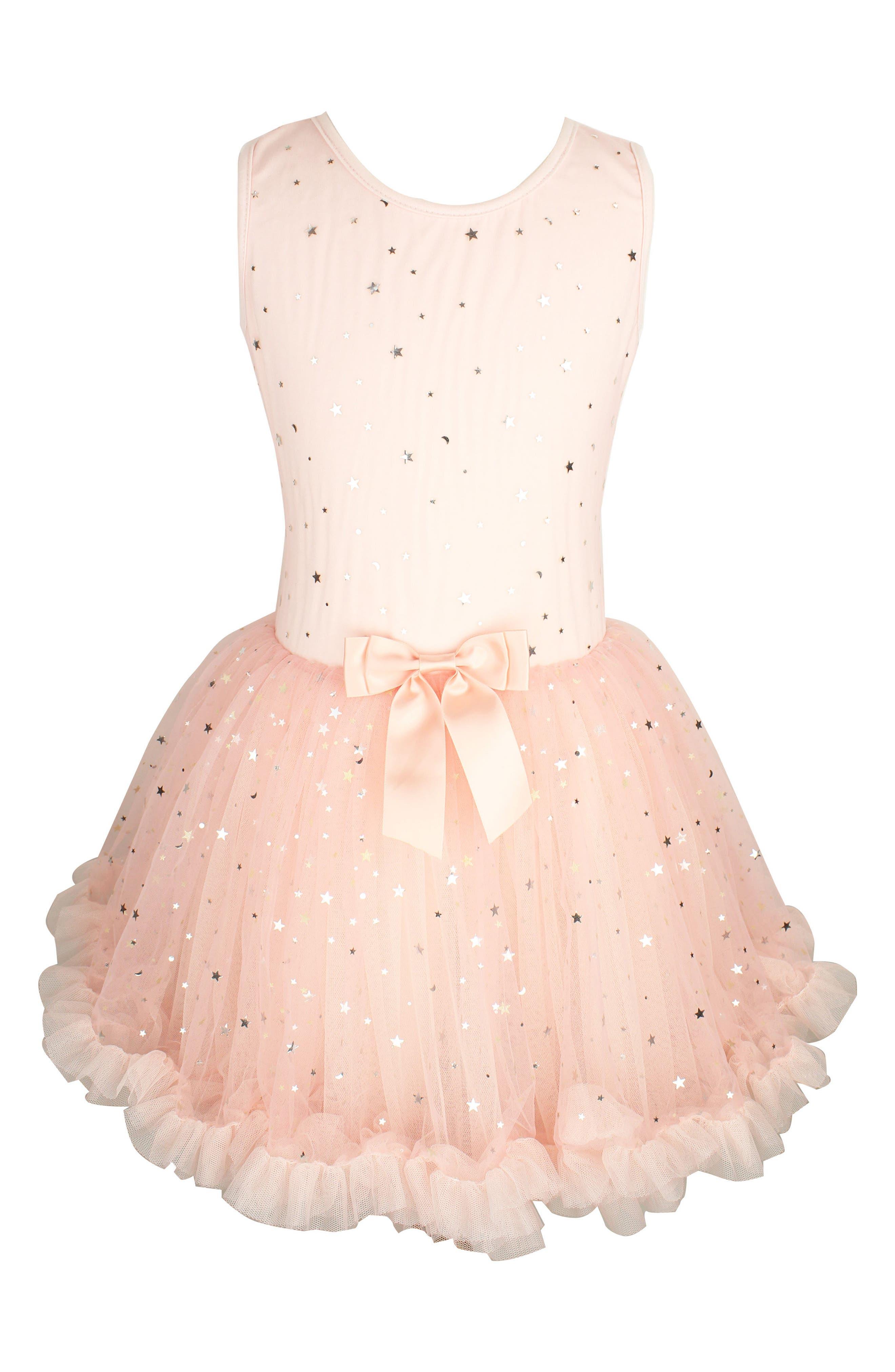 Metallic Stars Tutu Dress,                             Main thumbnail 1, color,                             Pink