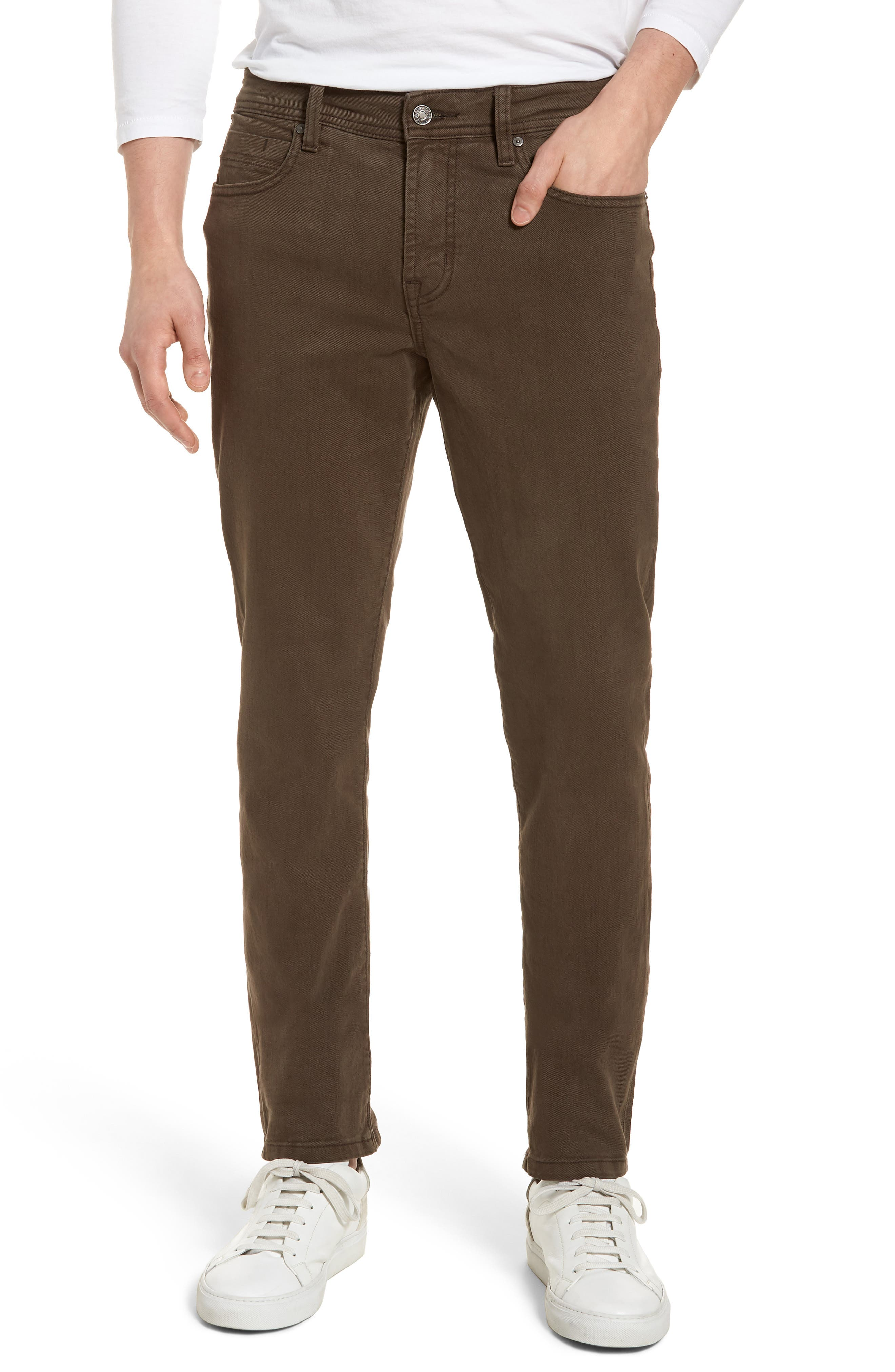 Jeans Co. Kingston Slim Straight Leg Jeans,                             Main thumbnail 1, color,                             Tobacco Leaf