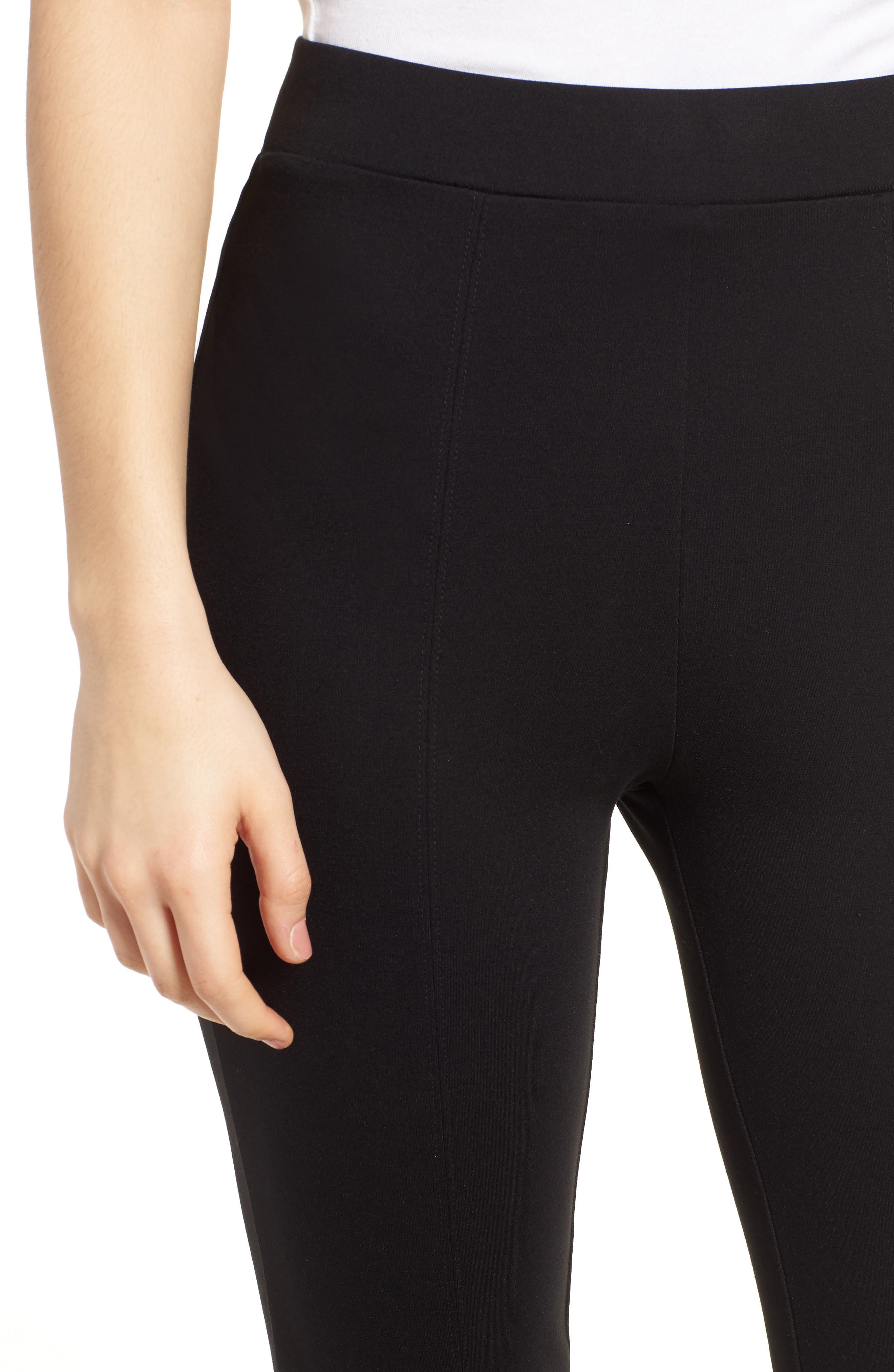 Macklin Ponte Leggings,                             Alternate thumbnail 4, color,                             Black