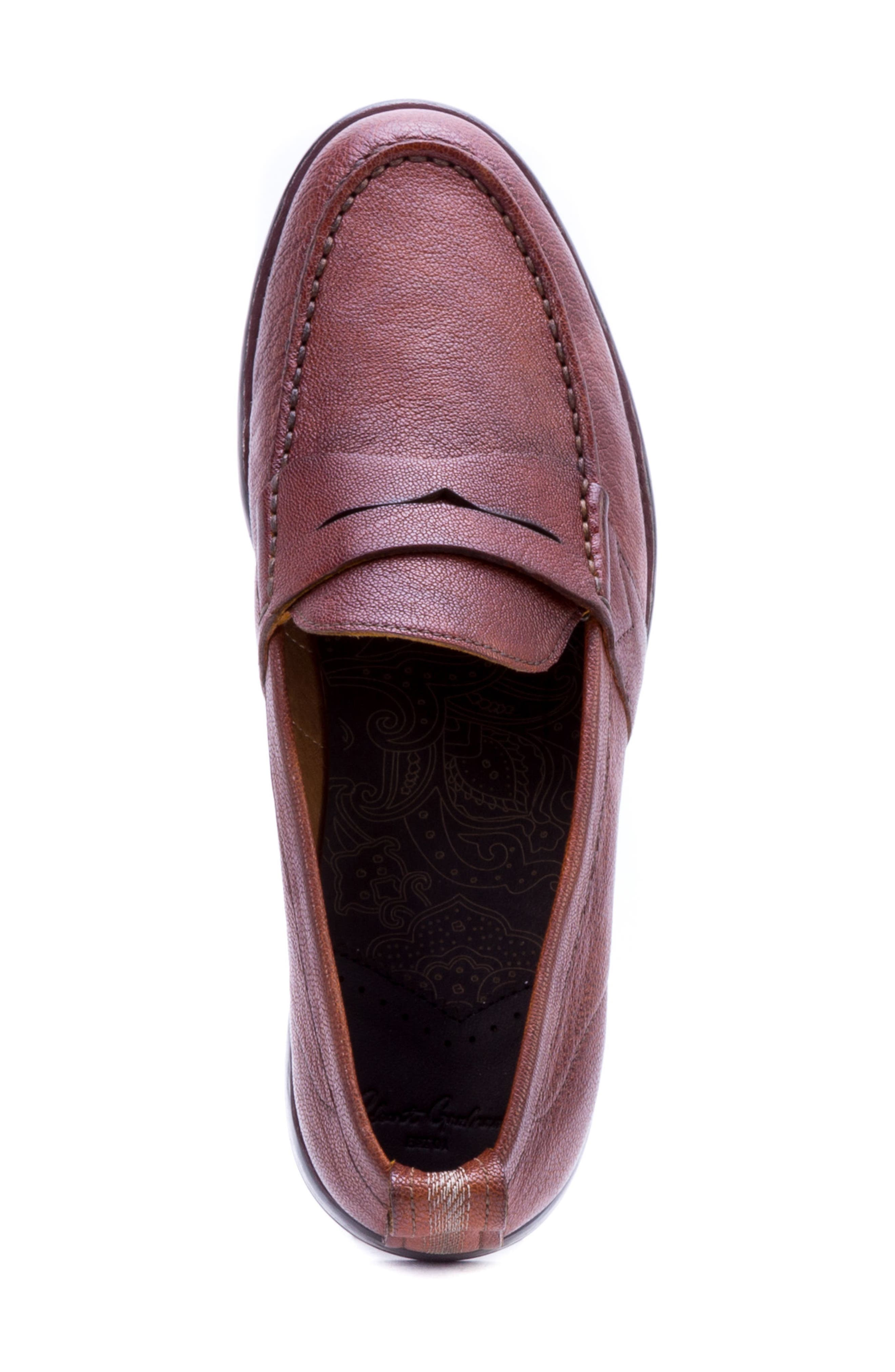 Torres Penny Loafer,                             Alternate thumbnail 5, color,                             Cognac Leather