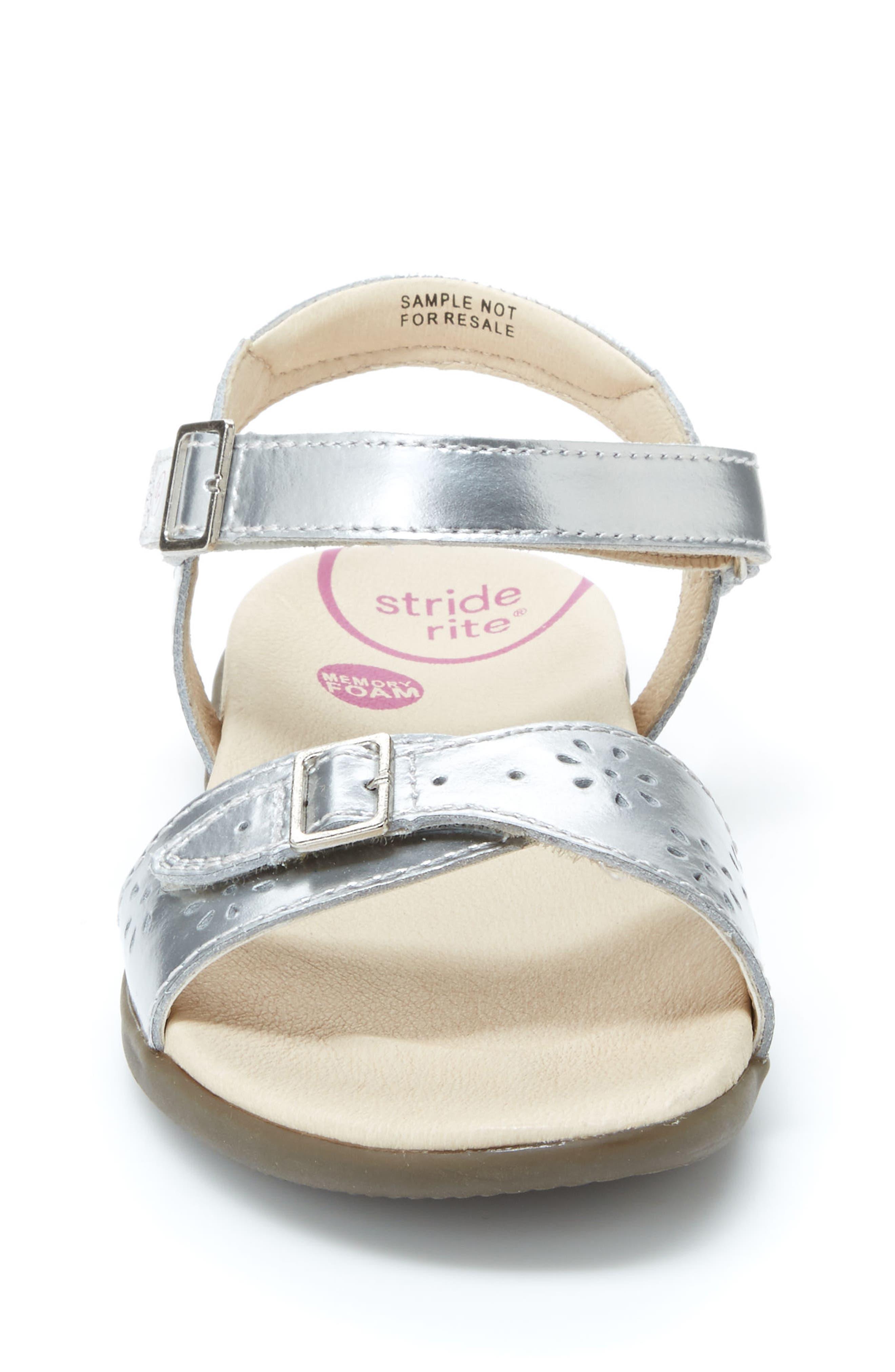 Roxanna Sandal,                             Alternate thumbnail 4, color,                             Silver Patent Leather