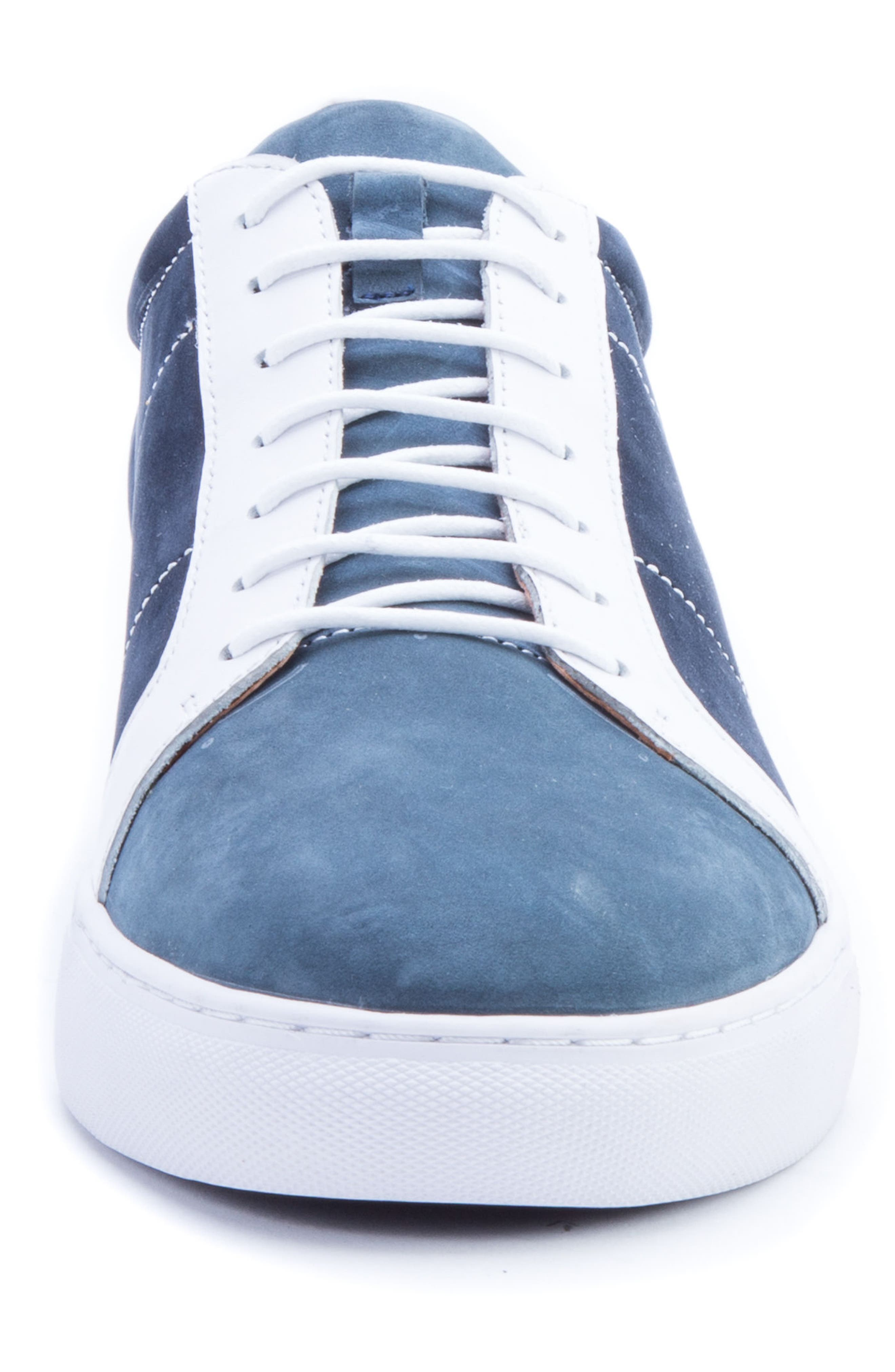 Gonzalo Low Top Sneaker,                             Alternate thumbnail 4, color,                             Navy Suede