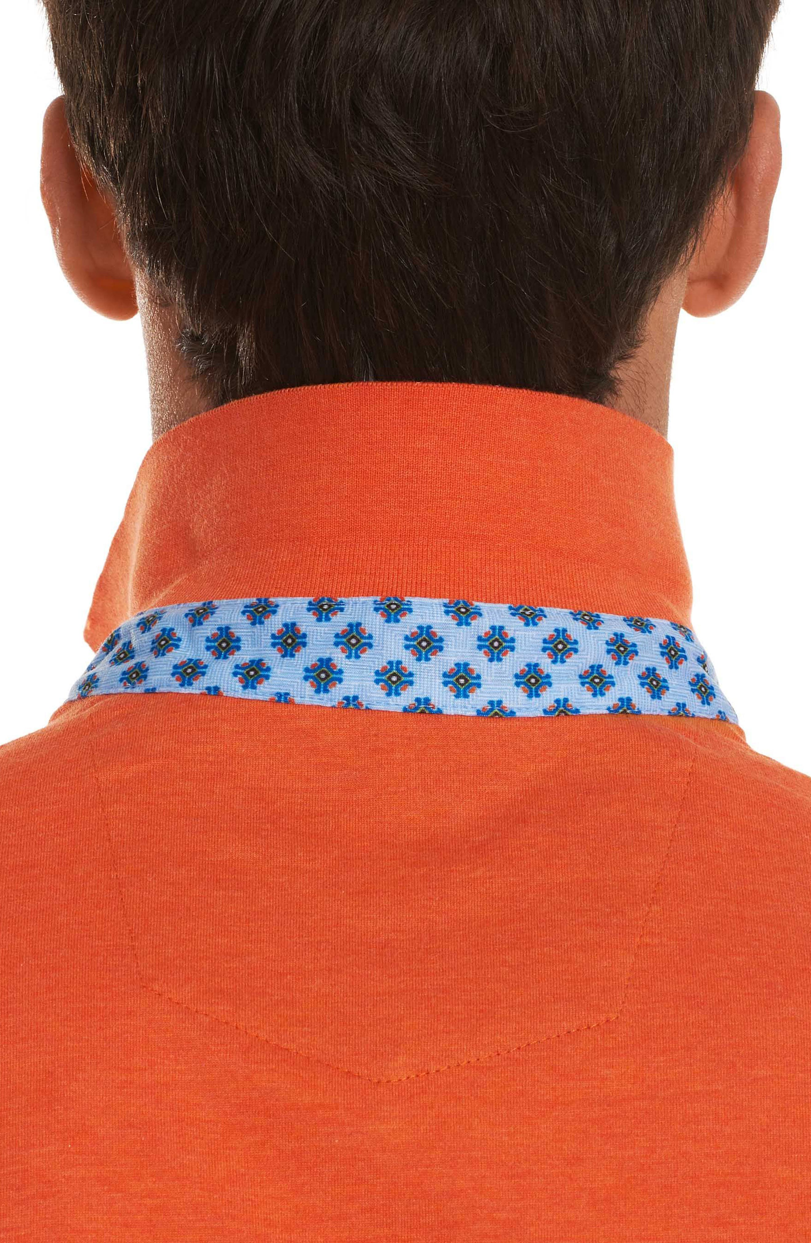 Diego Classic Fit Polo,                             Alternate thumbnail 3, color,                             Orange