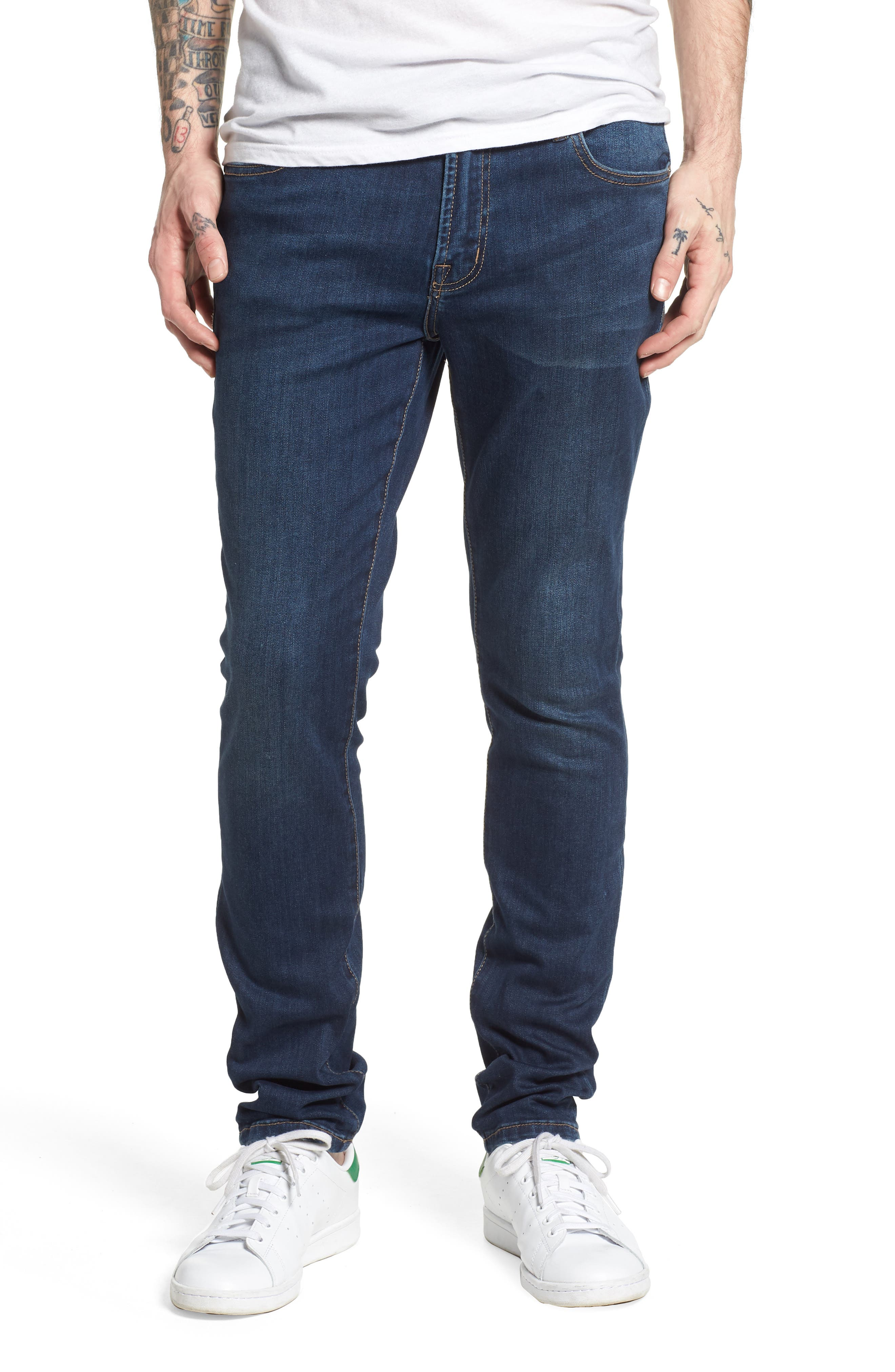 Jeans Co. Bond Skinny Fit Jeans,                             Main thumbnail 1, color,                             Cladwell Dark