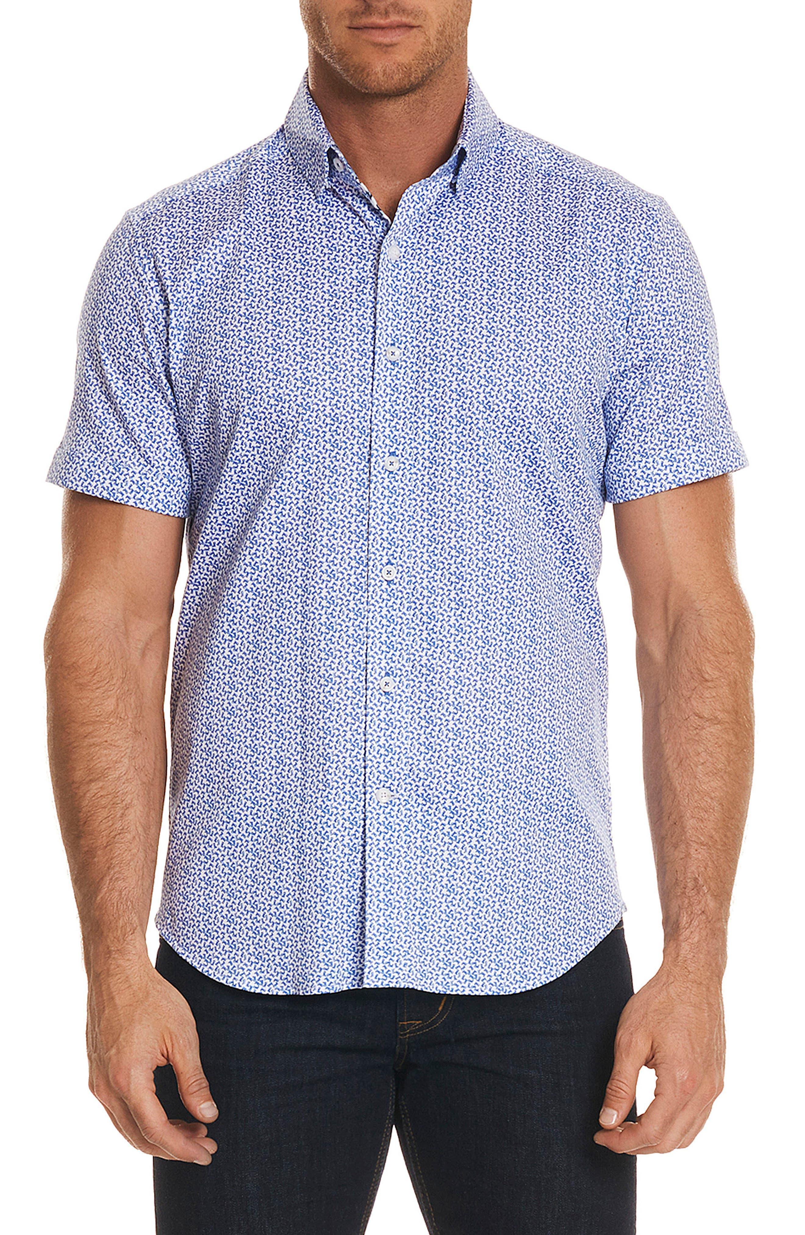 Hartman Tailored Fit Sport Shirt,                             Main thumbnail 1, color,                             Blue