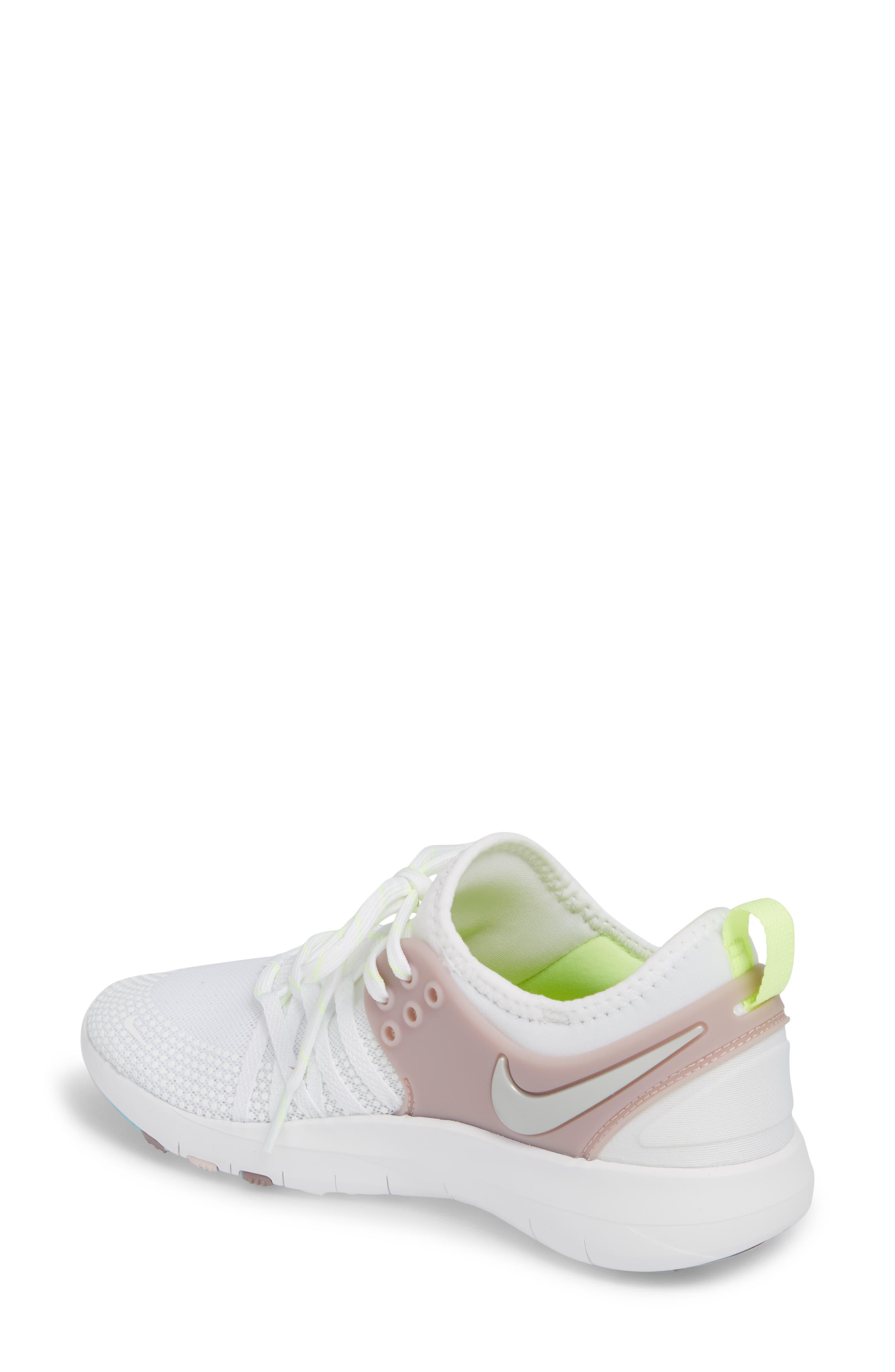 Free TR 7 Training Shoe,                             Alternate thumbnail 2, color,                             White/ Silver