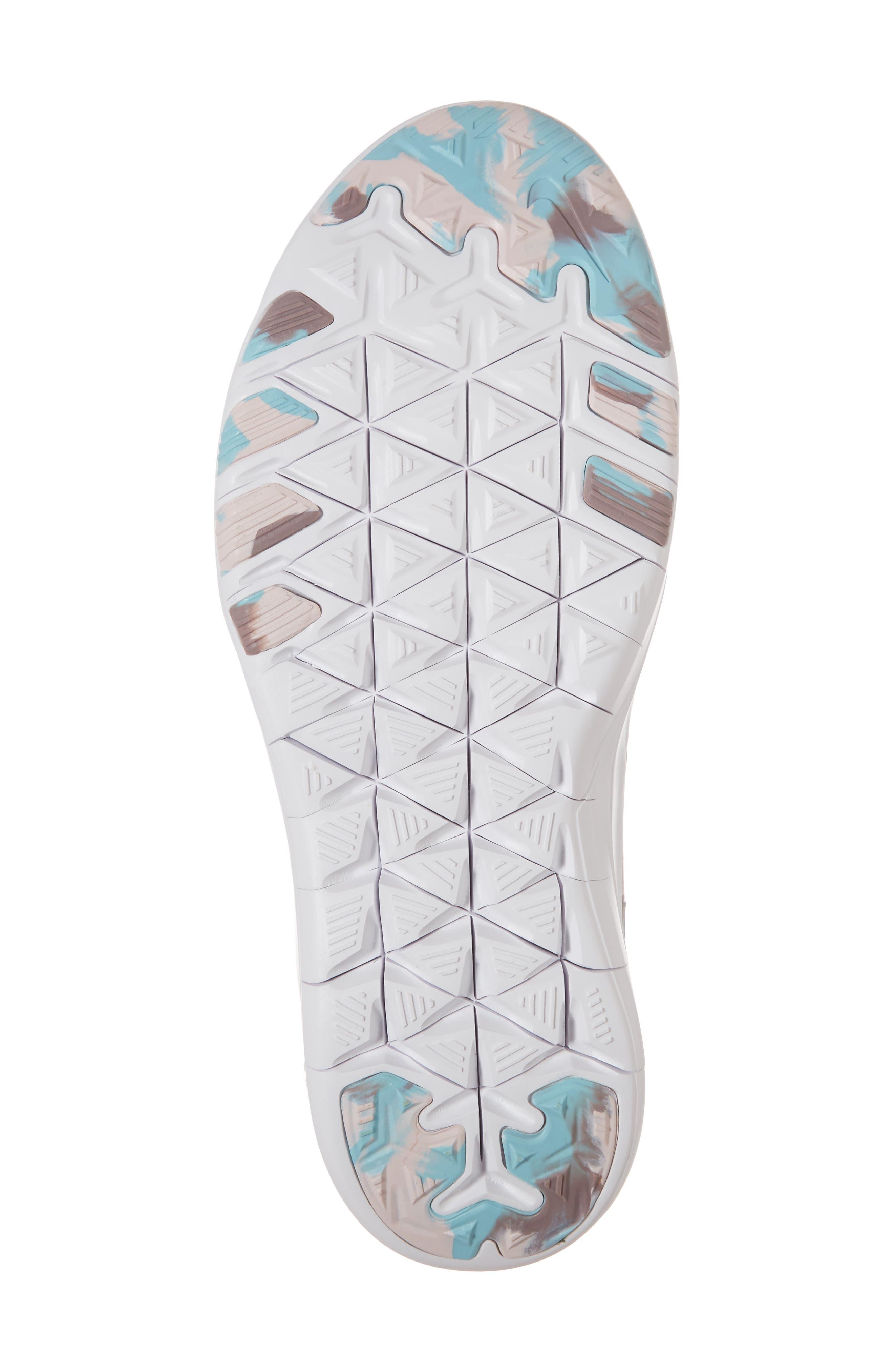 Free TR 7 Training Shoe,                             Alternate thumbnail 6, color,                             White/ Silver