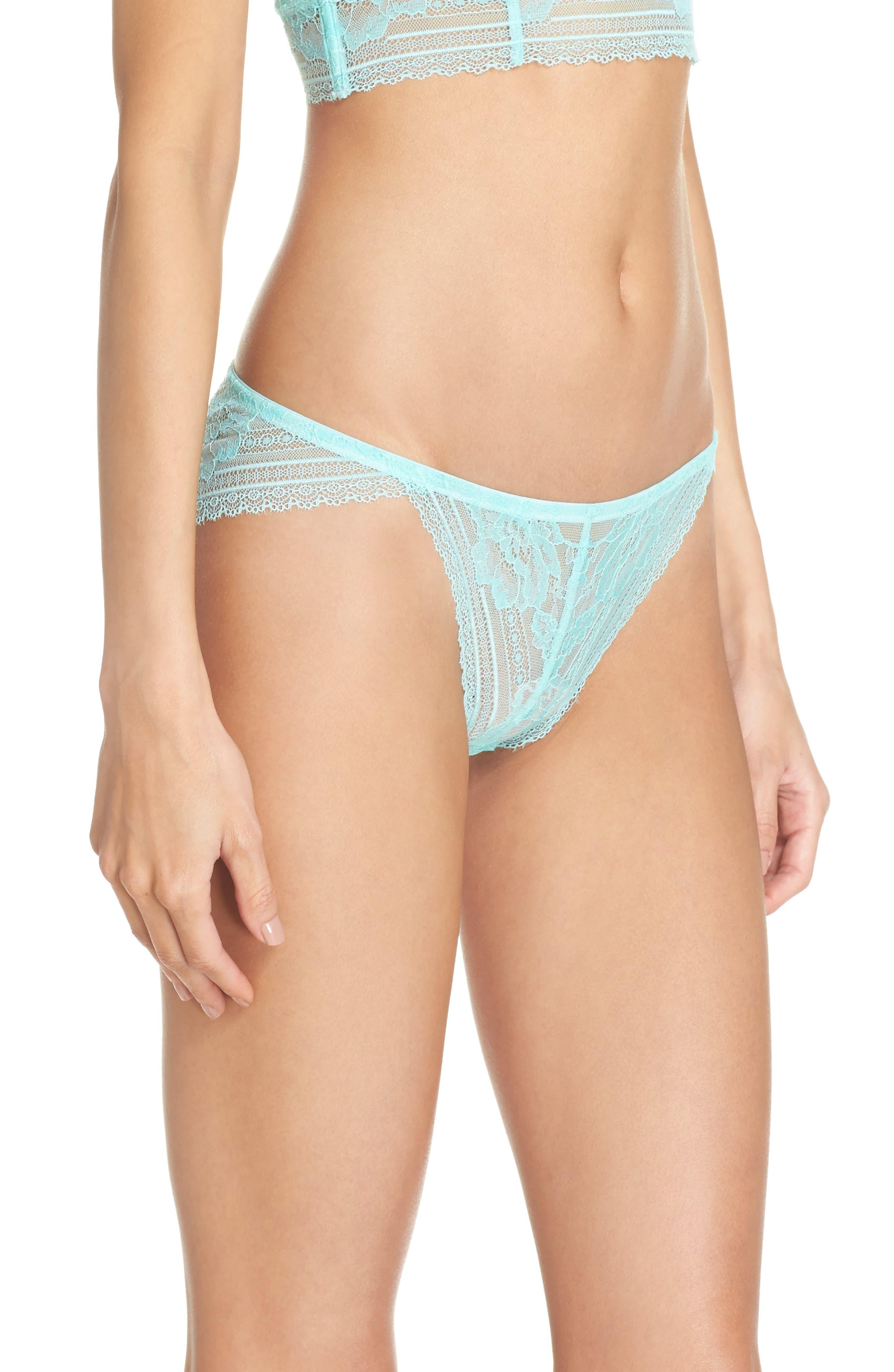 Intimately FP Sorento Lace Bikini,                             Alternate thumbnail 3, color,                             Mint