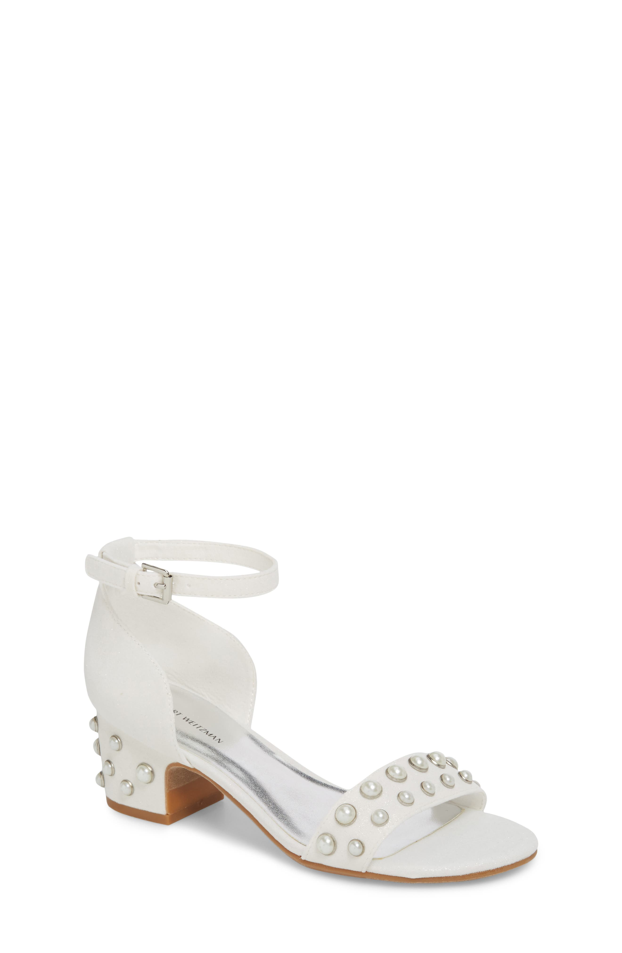 Stuart Weitzman Rosalyn Lina Embellished Sparkle Sandal (Toddler, Little Kid & Big Kid)
