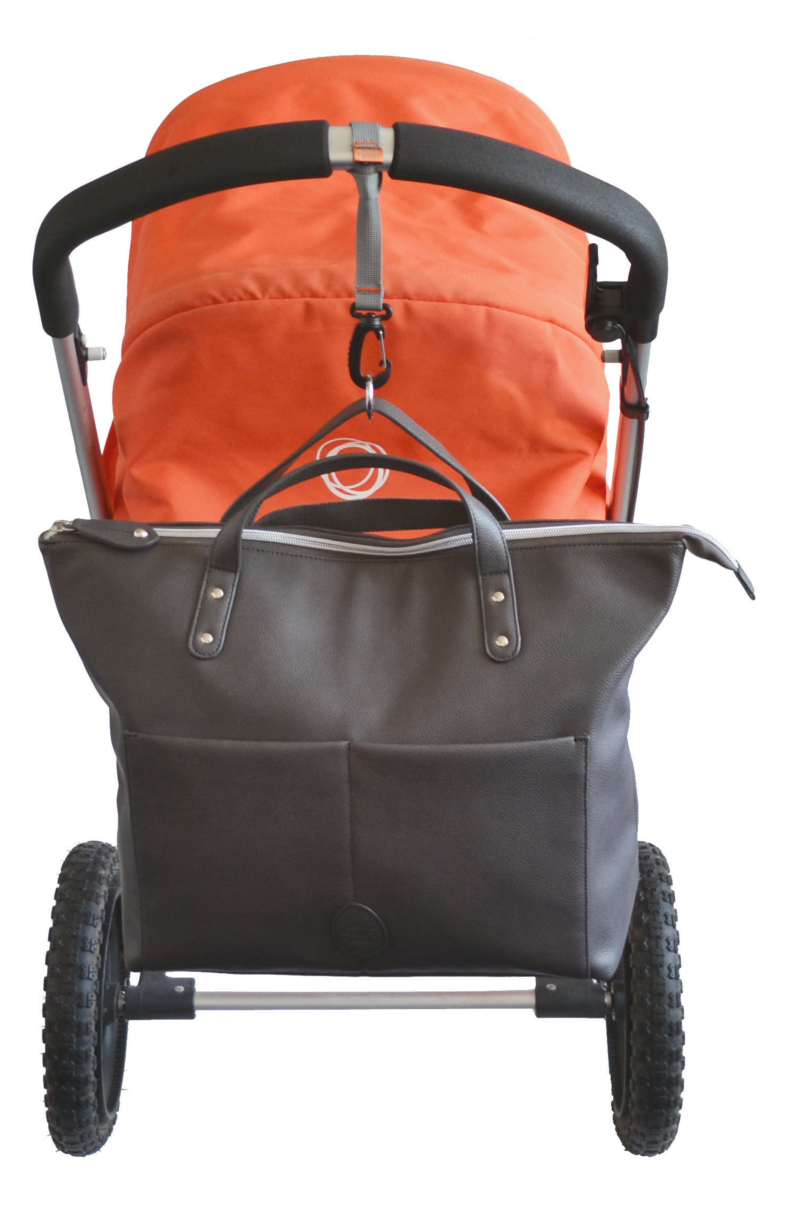 Saunton Faux Leather Convertible Diaper Backpack,                             Alternate thumbnail 6, color,                             Pewter