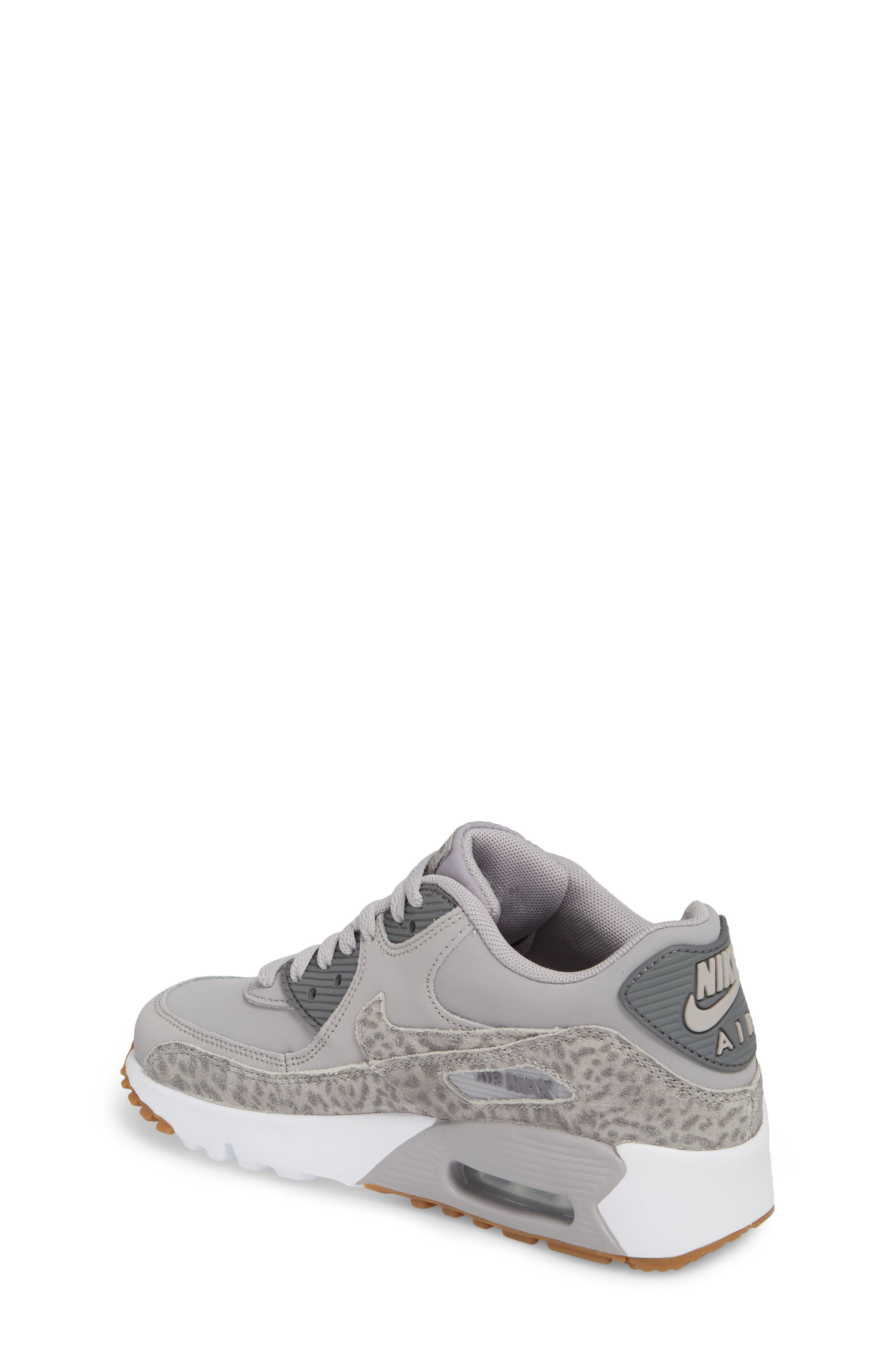 Air Max 90 Leather Sneaker,                             Alternate thumbnail 2, color,                             Atmosphere Grey/ Smoke/ White