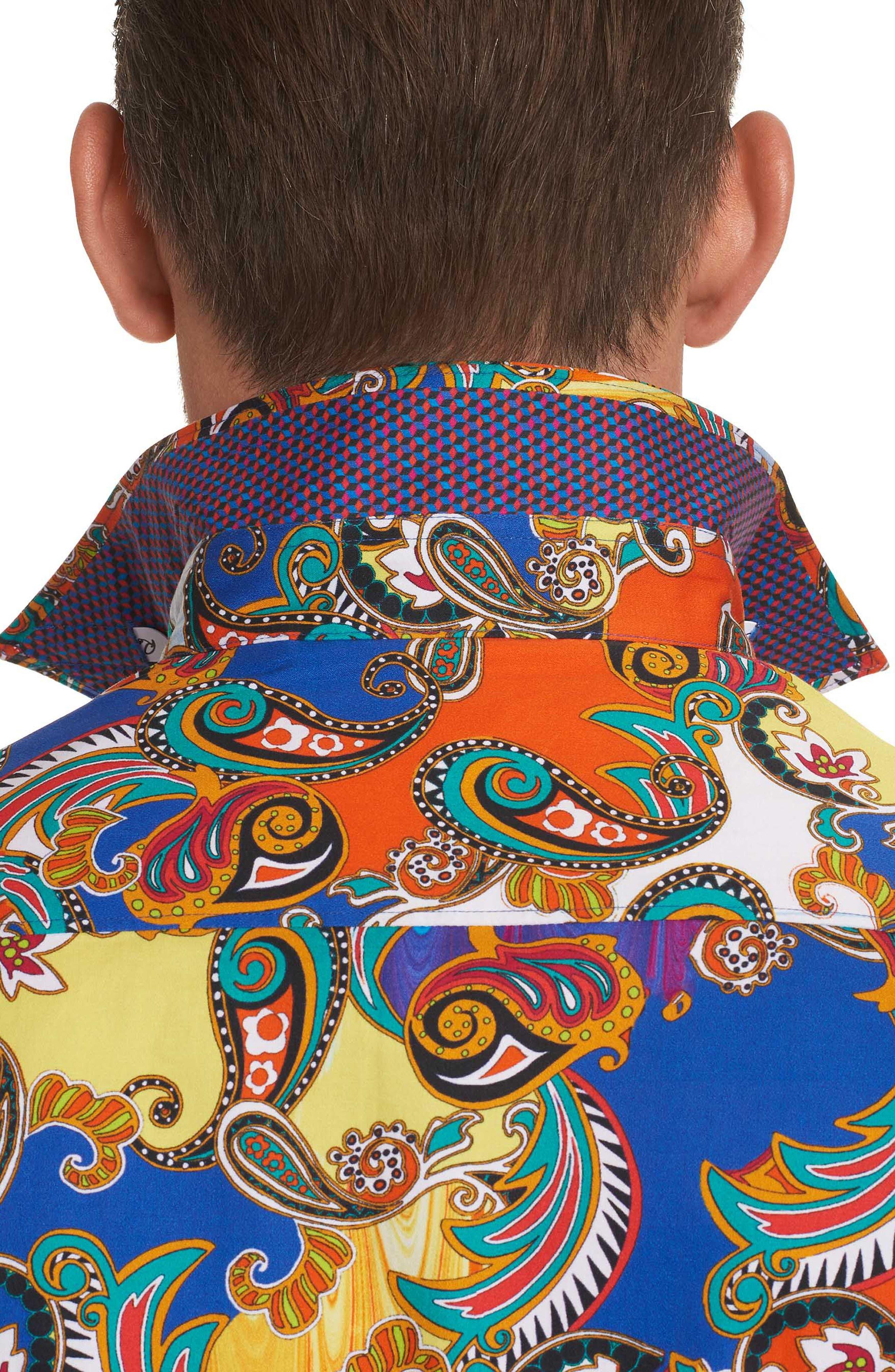 Acosta Classic Fit Sport Shirt,                             Alternate thumbnail 5, color,                             Multi