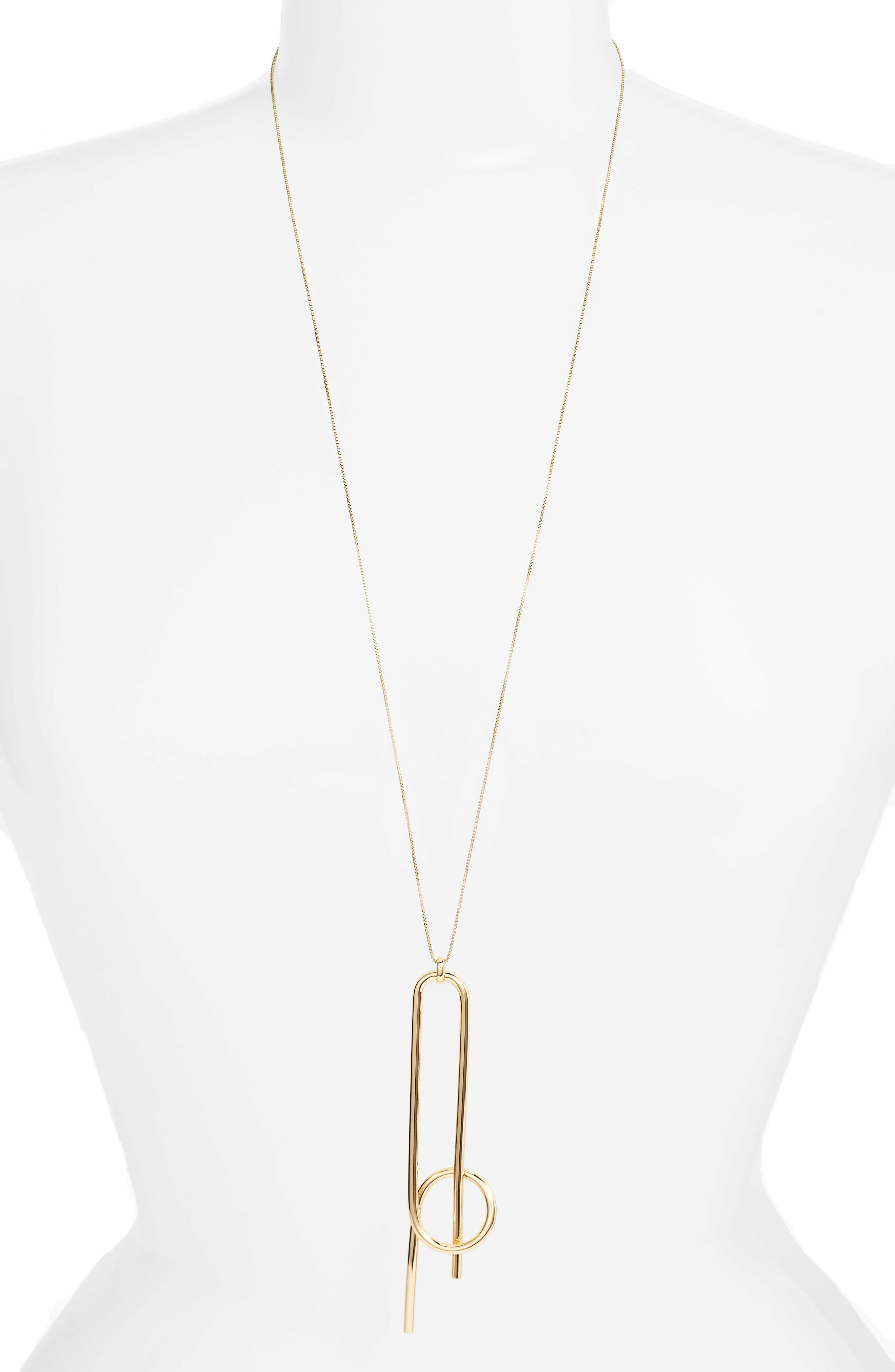 Otis Pendant Necklace,                             Main thumbnail 1, color,                             High Polish Gold