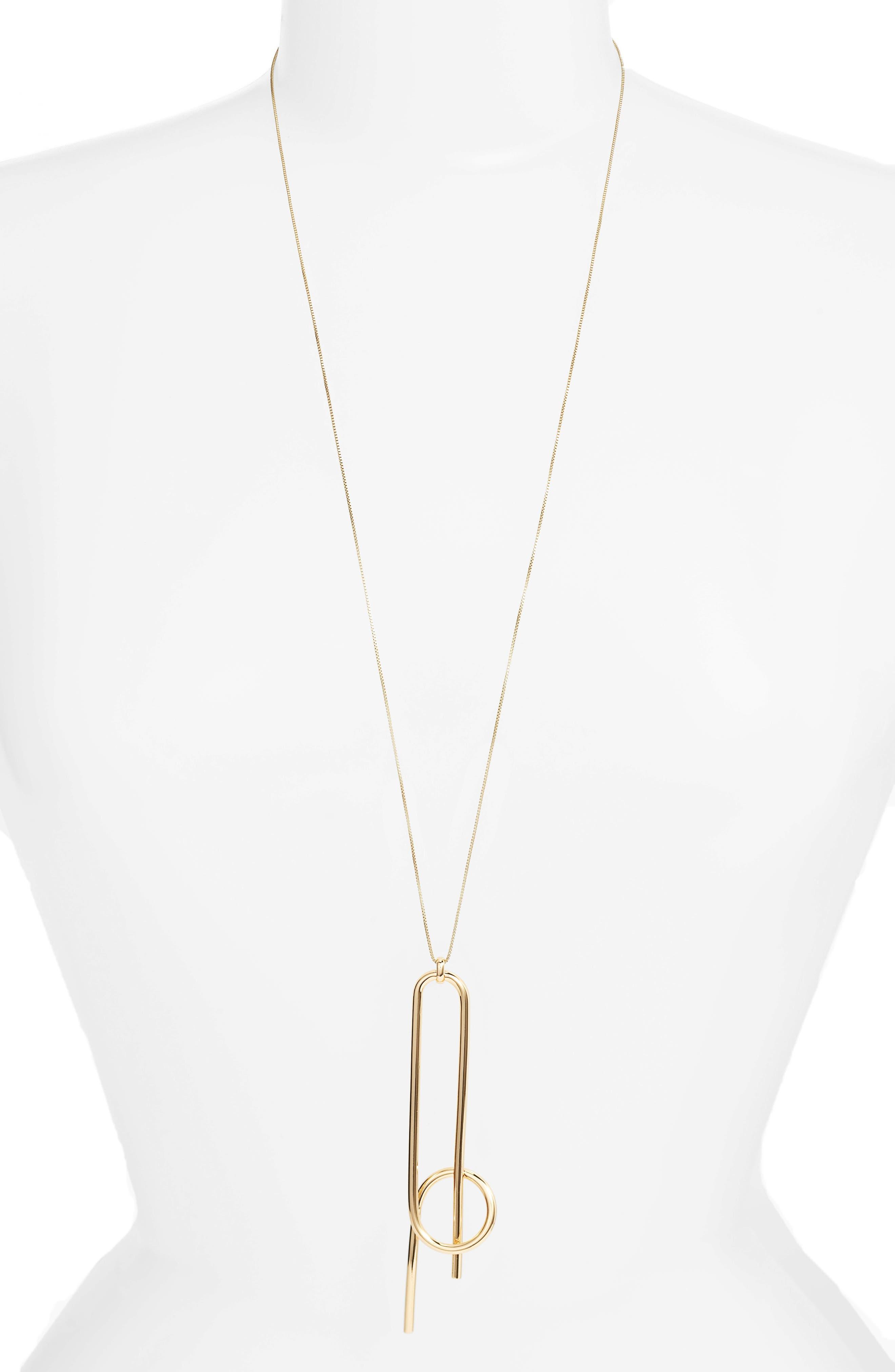 Otis Pendant Necklace,                         Main,                         color, High Polish Gold