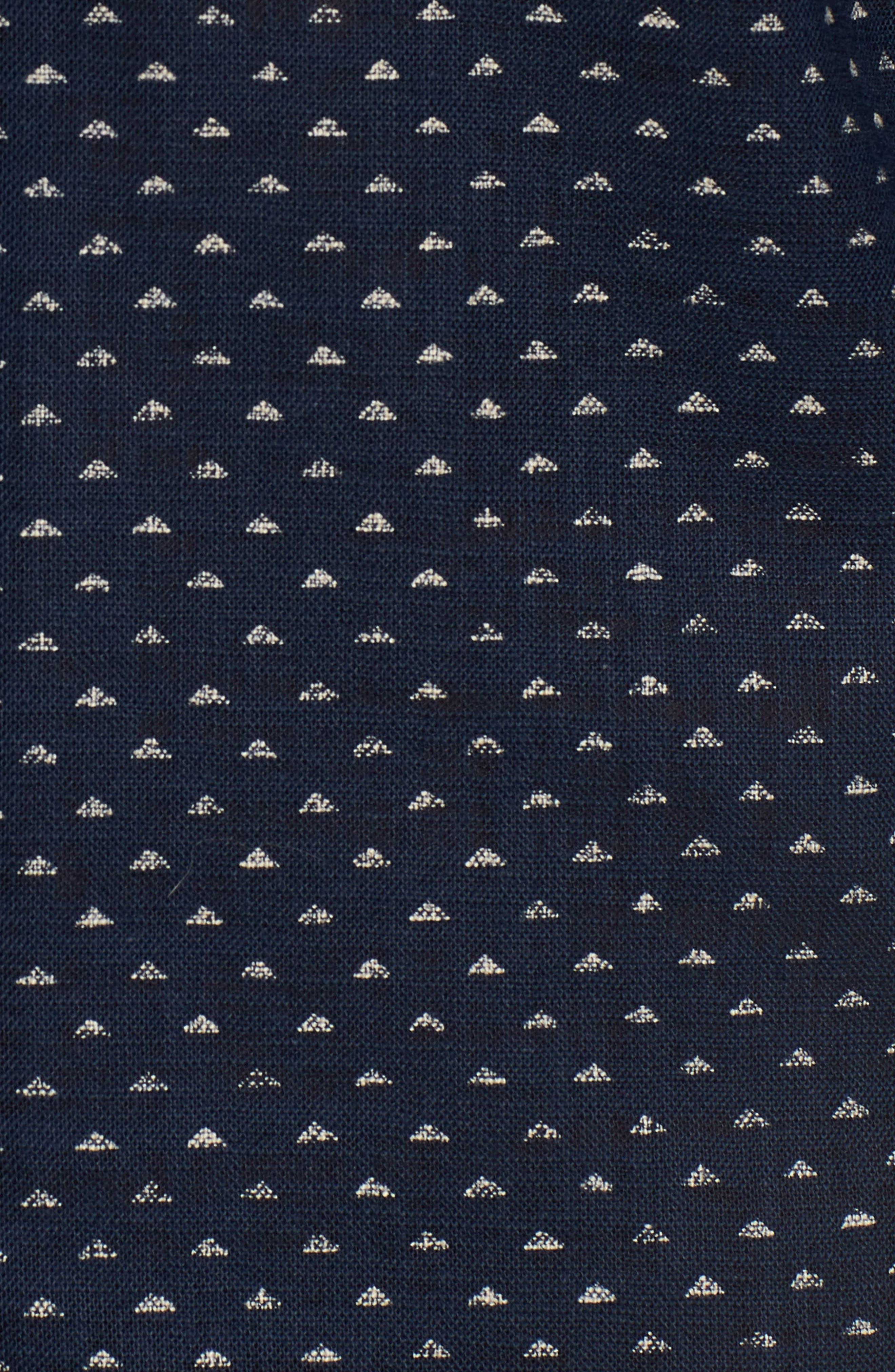 Kimono Print Shirt,                             Alternate thumbnail 5, color,                             Indigo