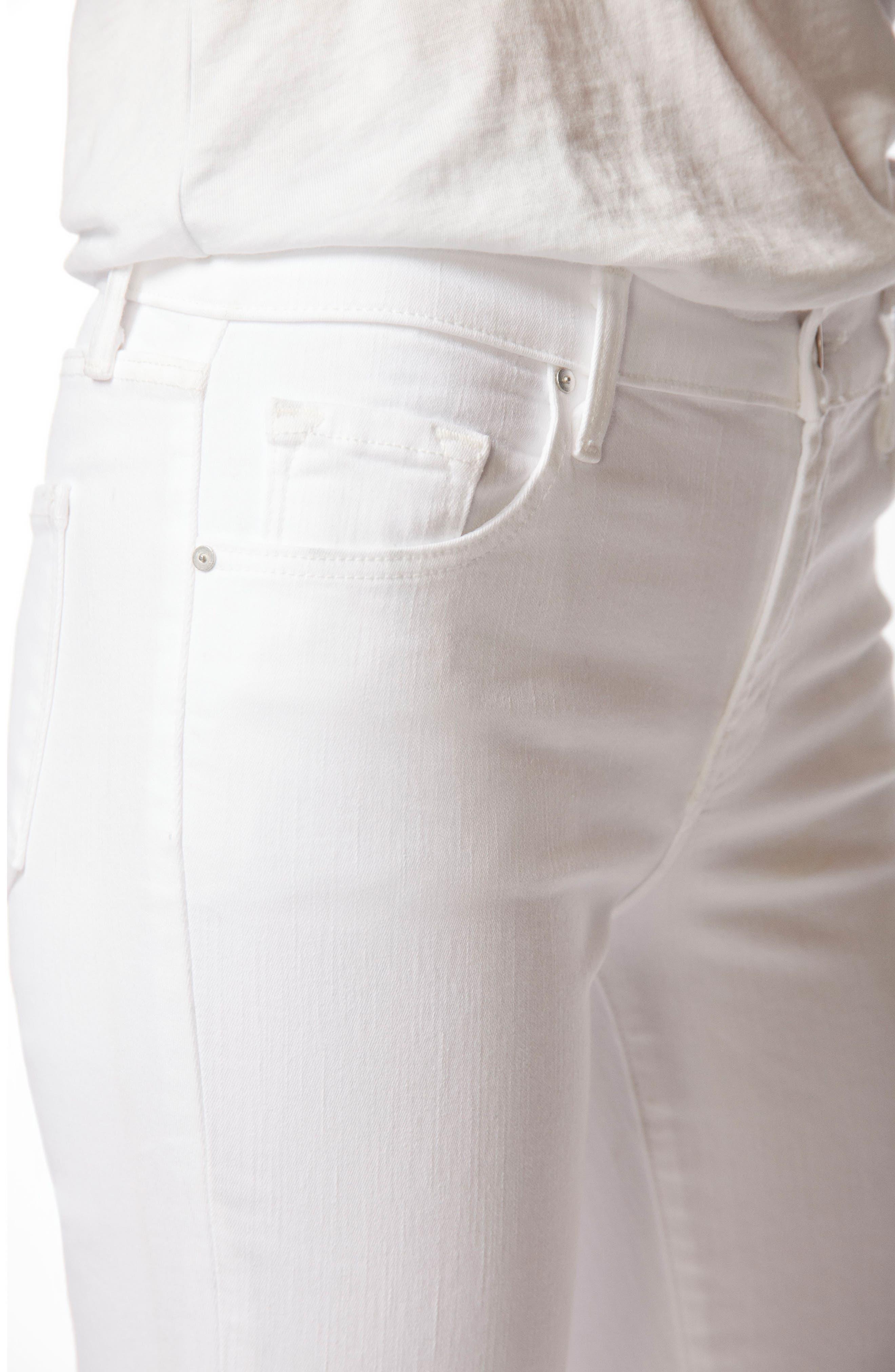 Mid-Rise Capri Skinny Jeans,                             Alternate thumbnail 6, color,                             White