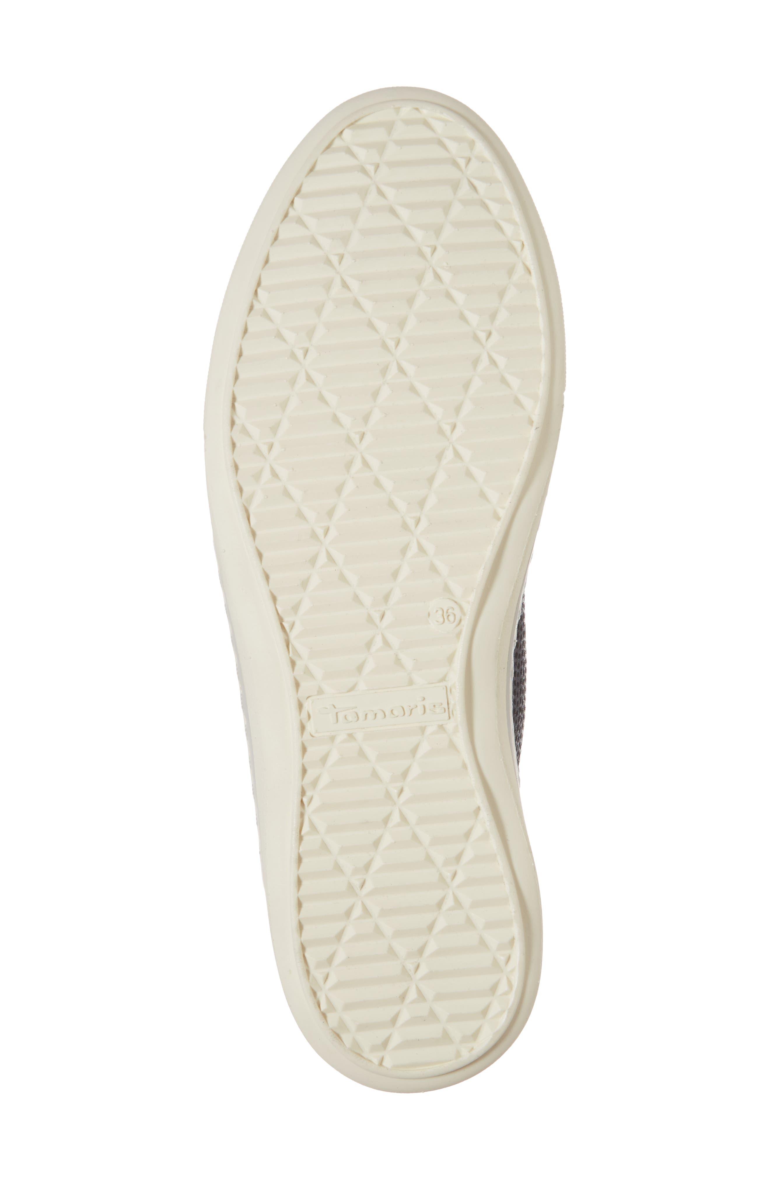 Freya Sneaker,                             Alternate thumbnail 6, color,                             Navy Leather