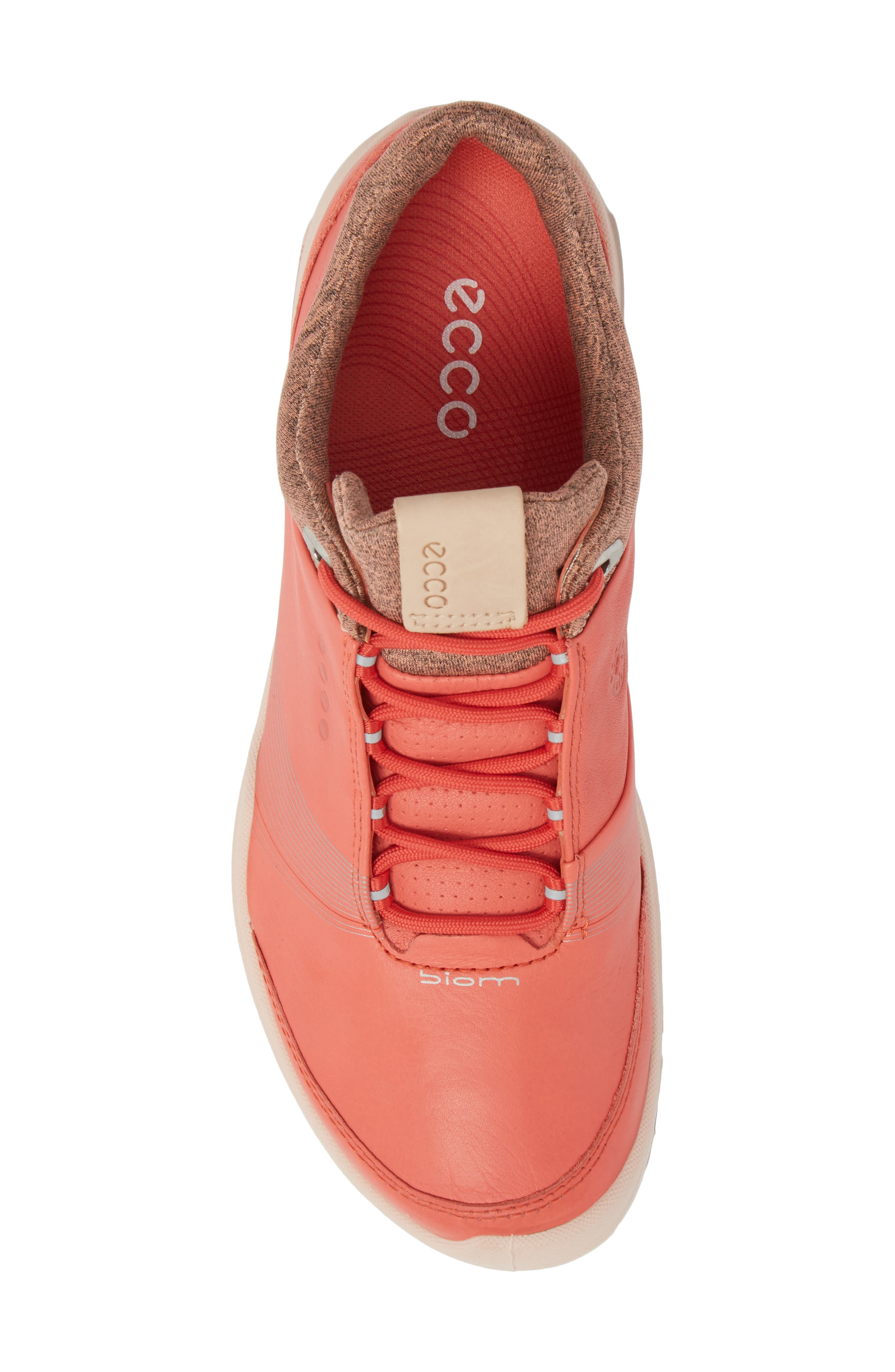 BIOM 2 Hybrid Gore-Tex<sup>®</sup> Golf Shoe,                             Alternate thumbnail 5, color,                             Spiced Coral Leather