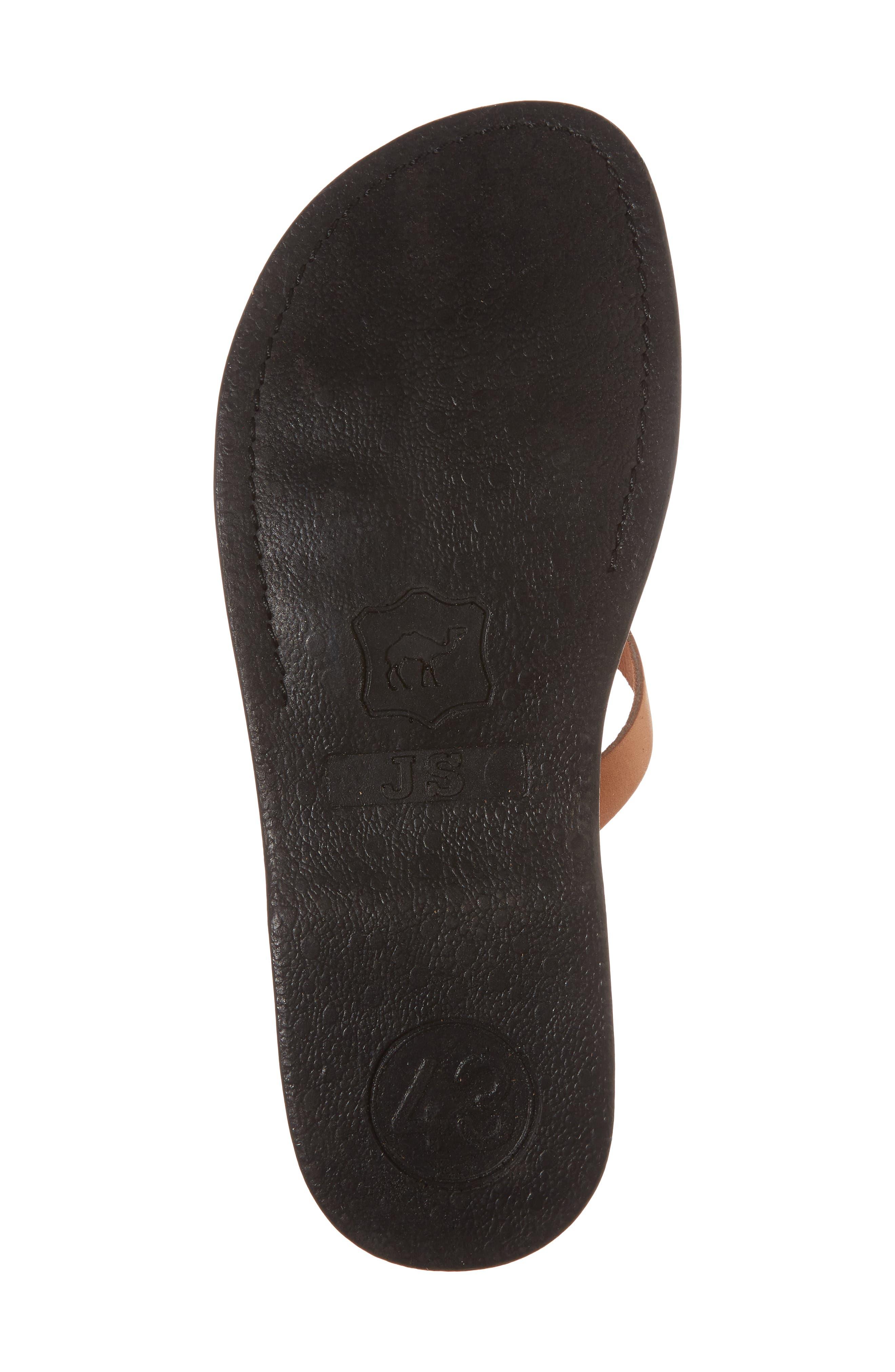 Gad Cross Strap Slide Sandal,                             Alternate thumbnail 6, color,                             Tan Leather