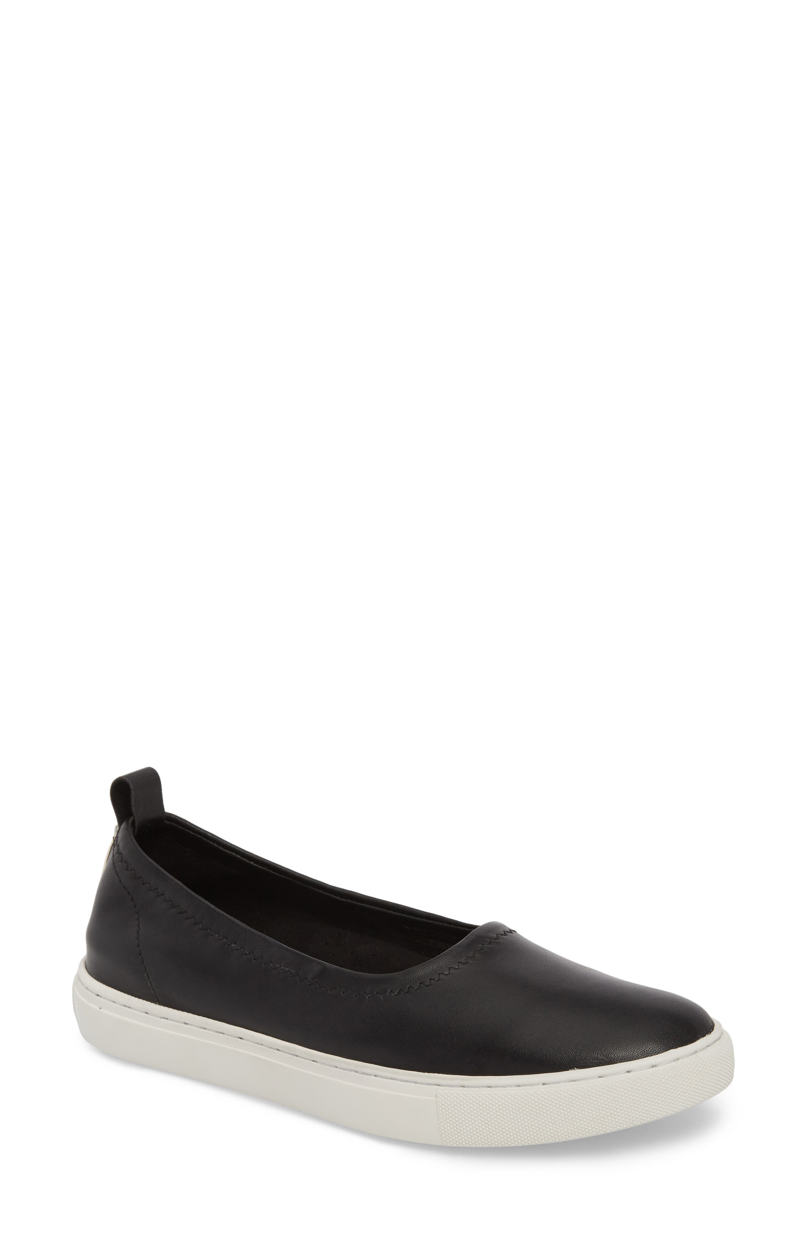 Kam Techni-Cole Ballet Flat,                             Main thumbnail 1, color,                             Black Leather