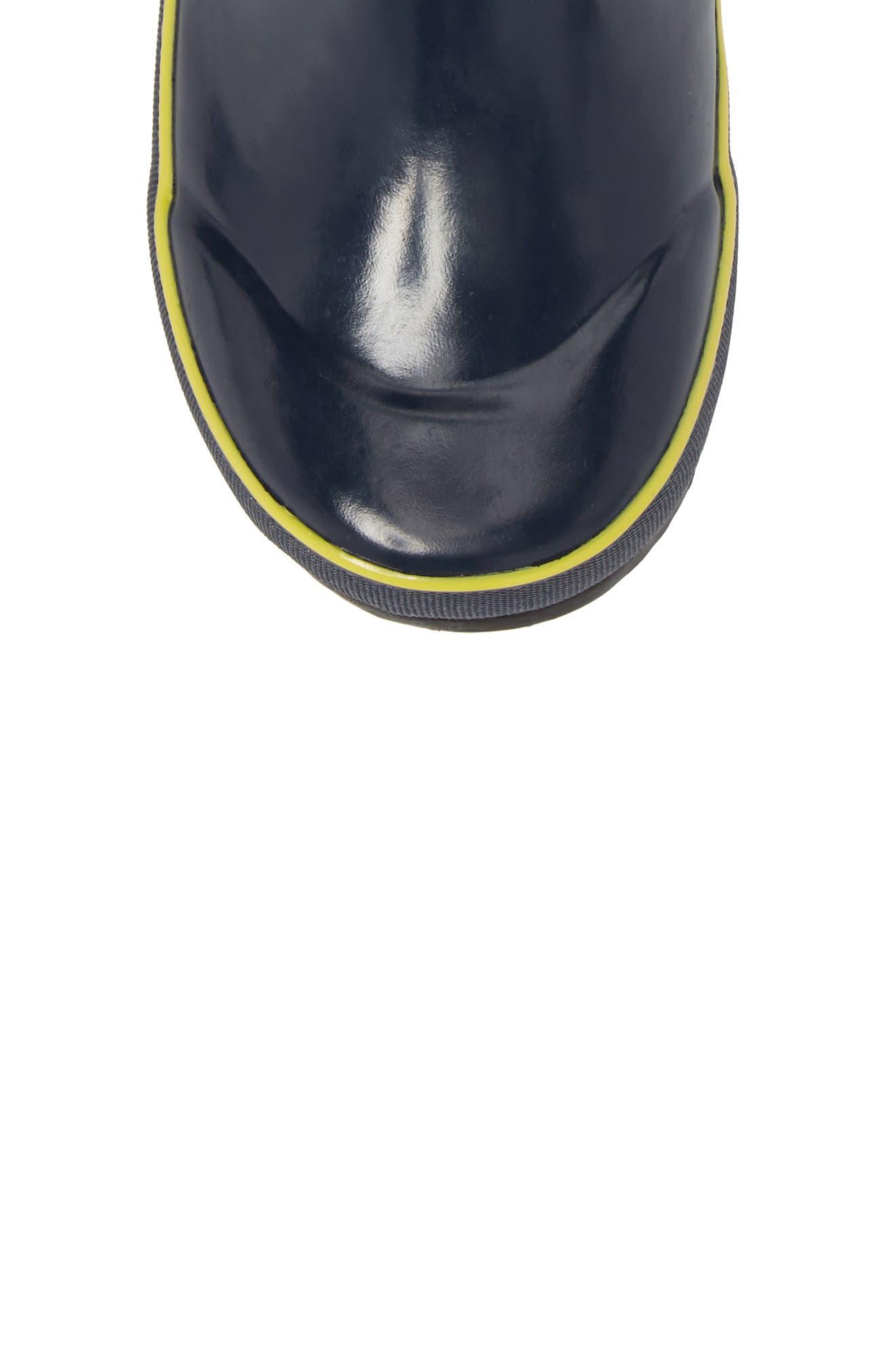 Umbrellas Waterproof Rubber Rain Boot,                             Alternate thumbnail 5, color,                             Dark Blue Multi