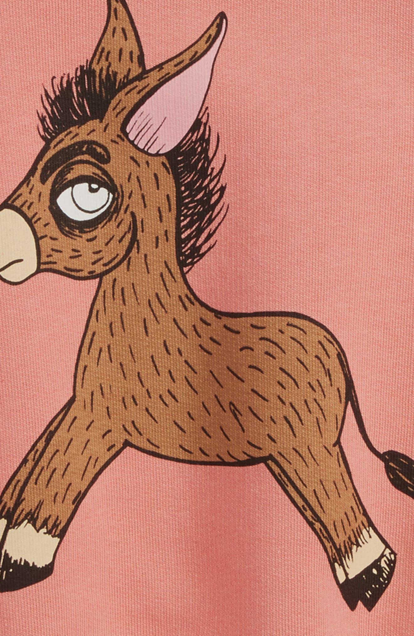 Donkey Organic Cotton Sweatshirt,                             Alternate thumbnail 2, color,                             Pink