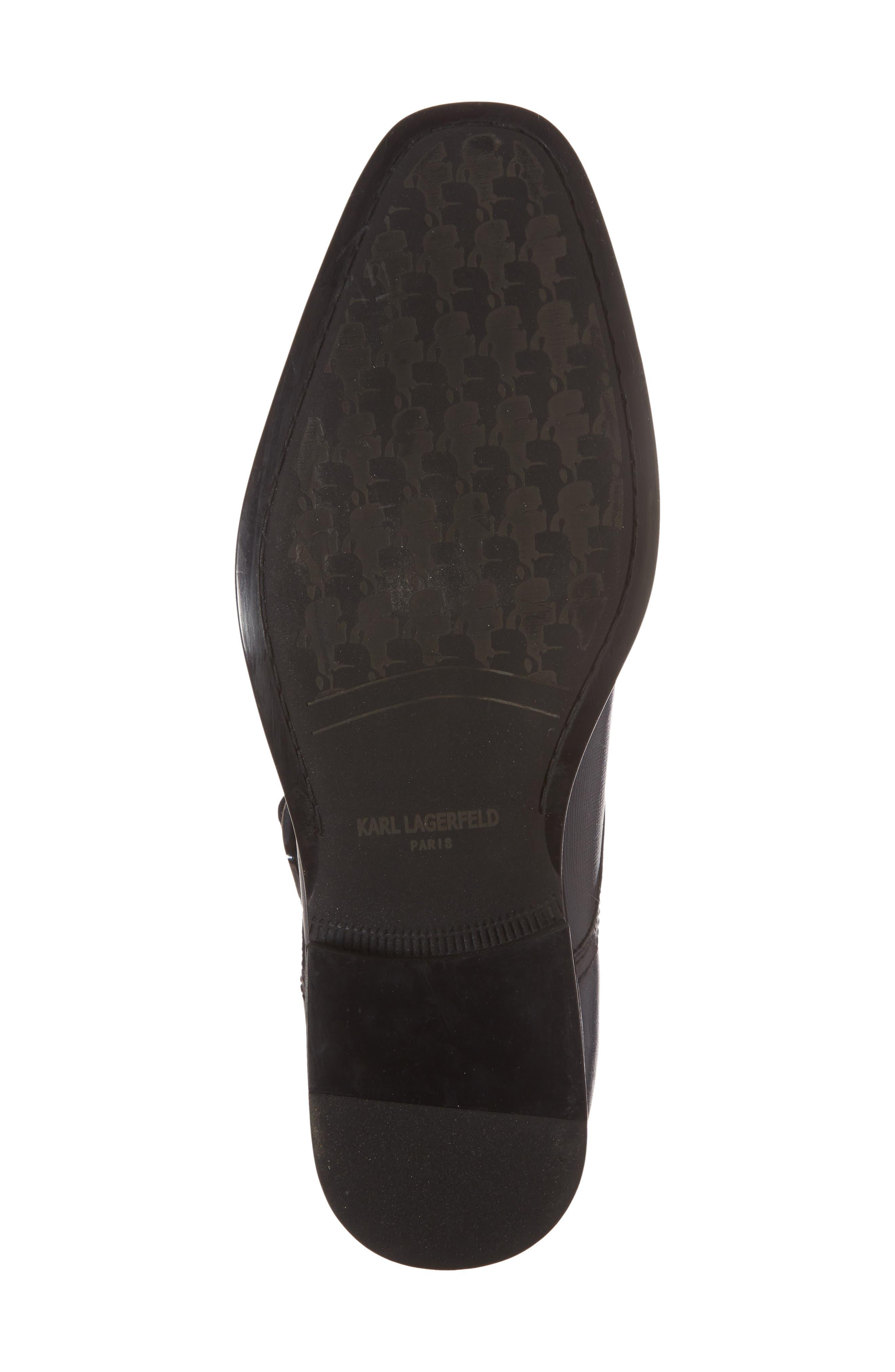 Karl Lagerfeld Double Strap Monk Shoe,                             Alternate thumbnail 6, color,                             Navy